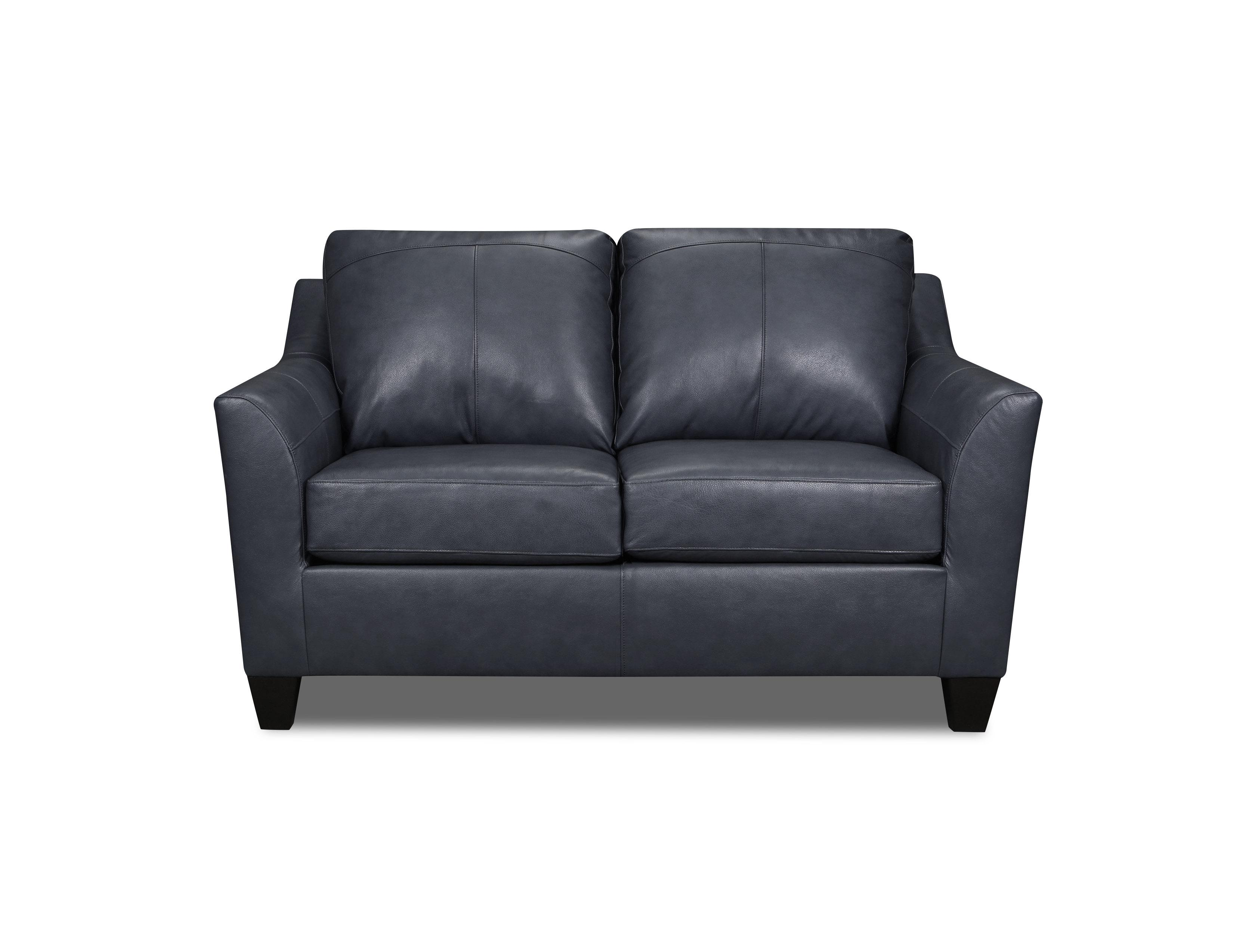 Discontinued lane furniture soft touch shale leather loveseat click to enlarge