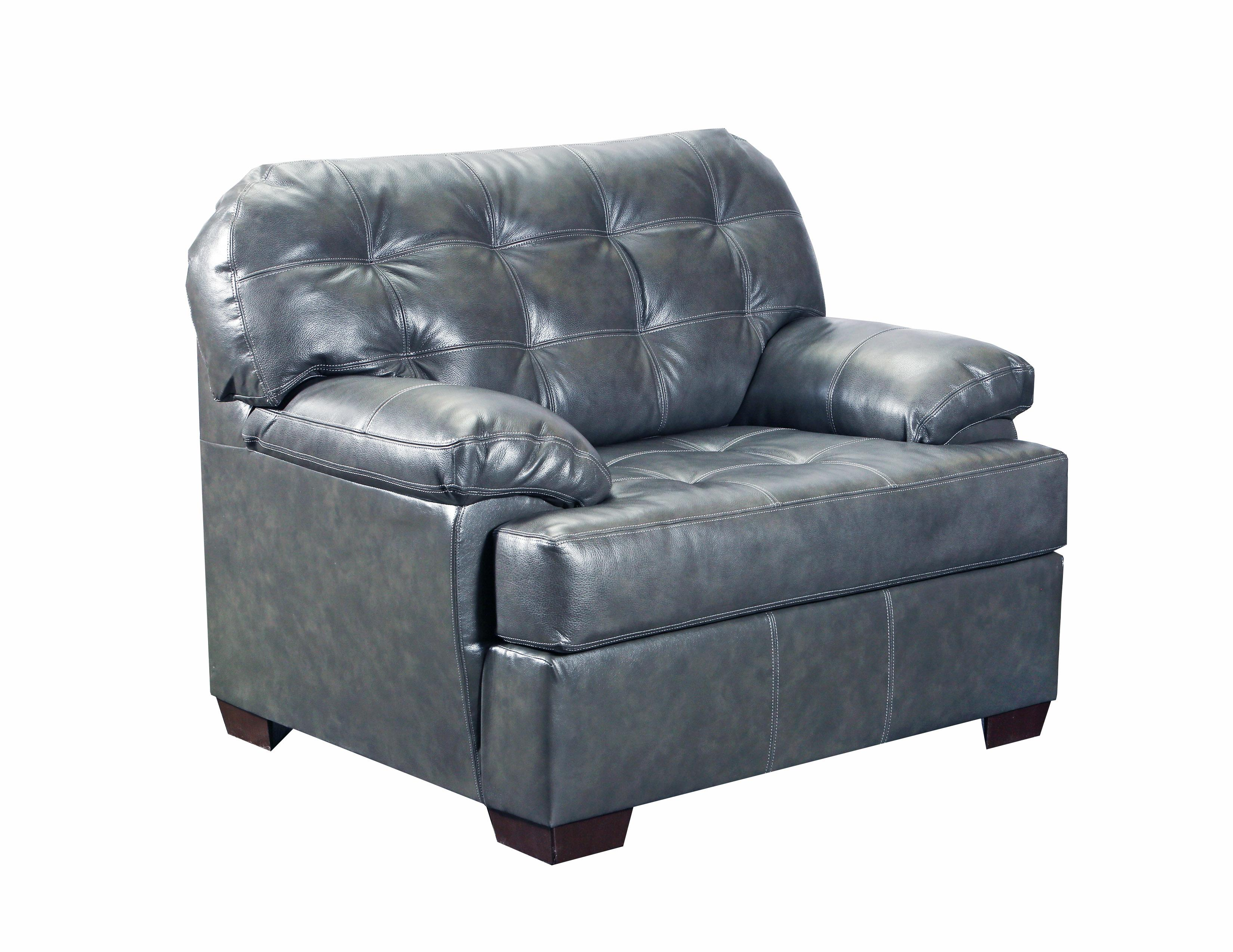 Lane Furniture Soft Touch Fog Leather 2pc Tufted Back