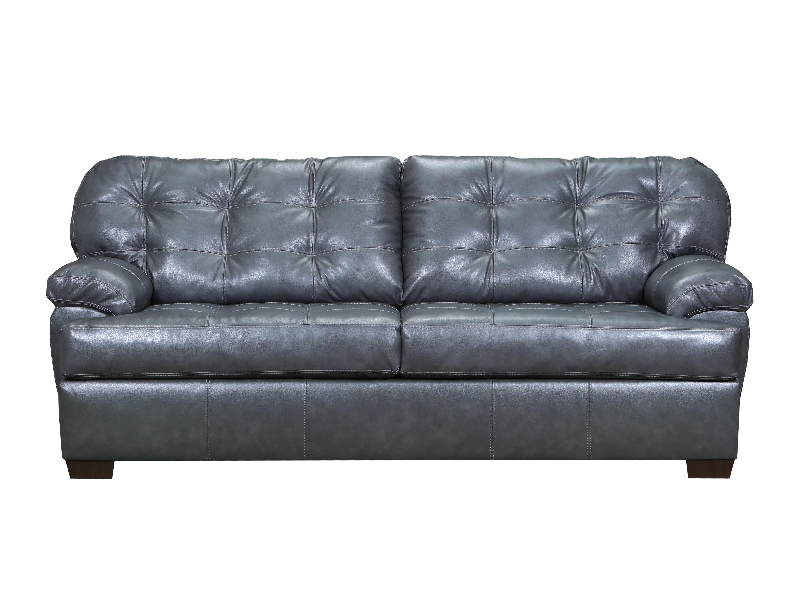 Soft Touch Fog Leather Tufted Back Sofa