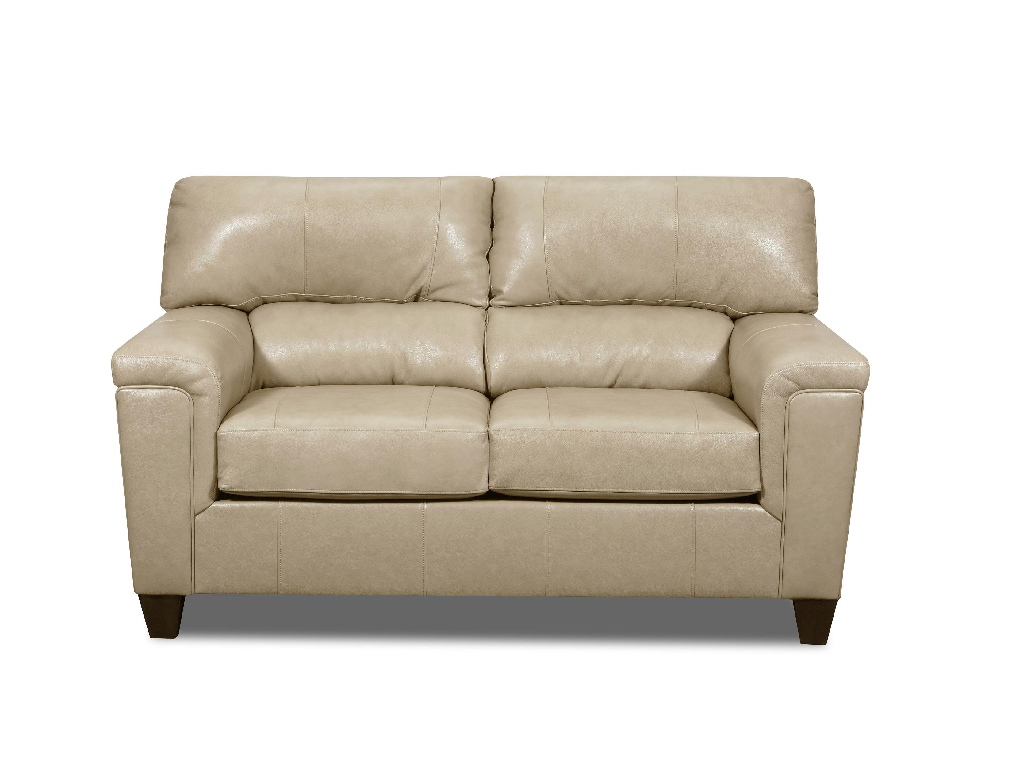 Lane Furniture Soft Touch Putty Leather Loveseat