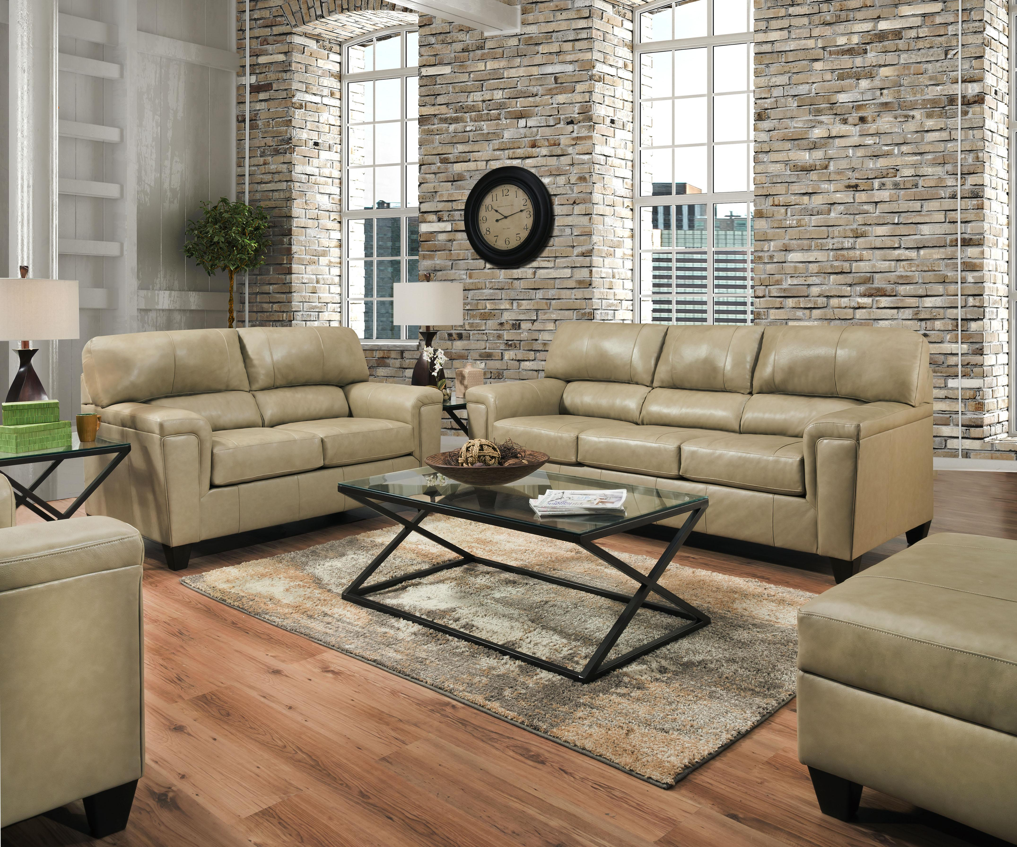 Awesome Lane Furniture Soft Touch Putty Leather 3Pc Living Room Set Beutiful Home Inspiration Truamahrainfo
