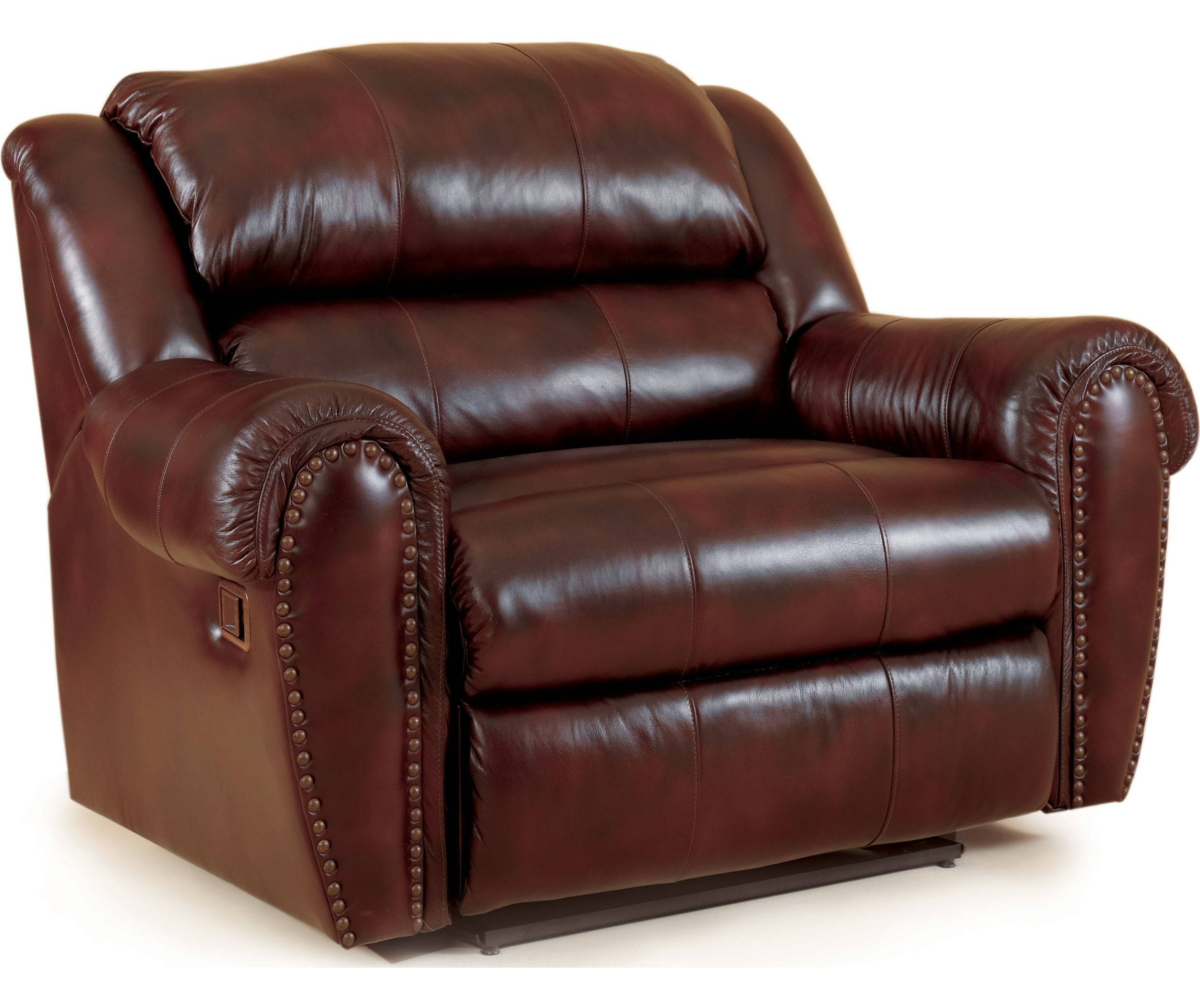 Brown Leather Snuggler Recliner