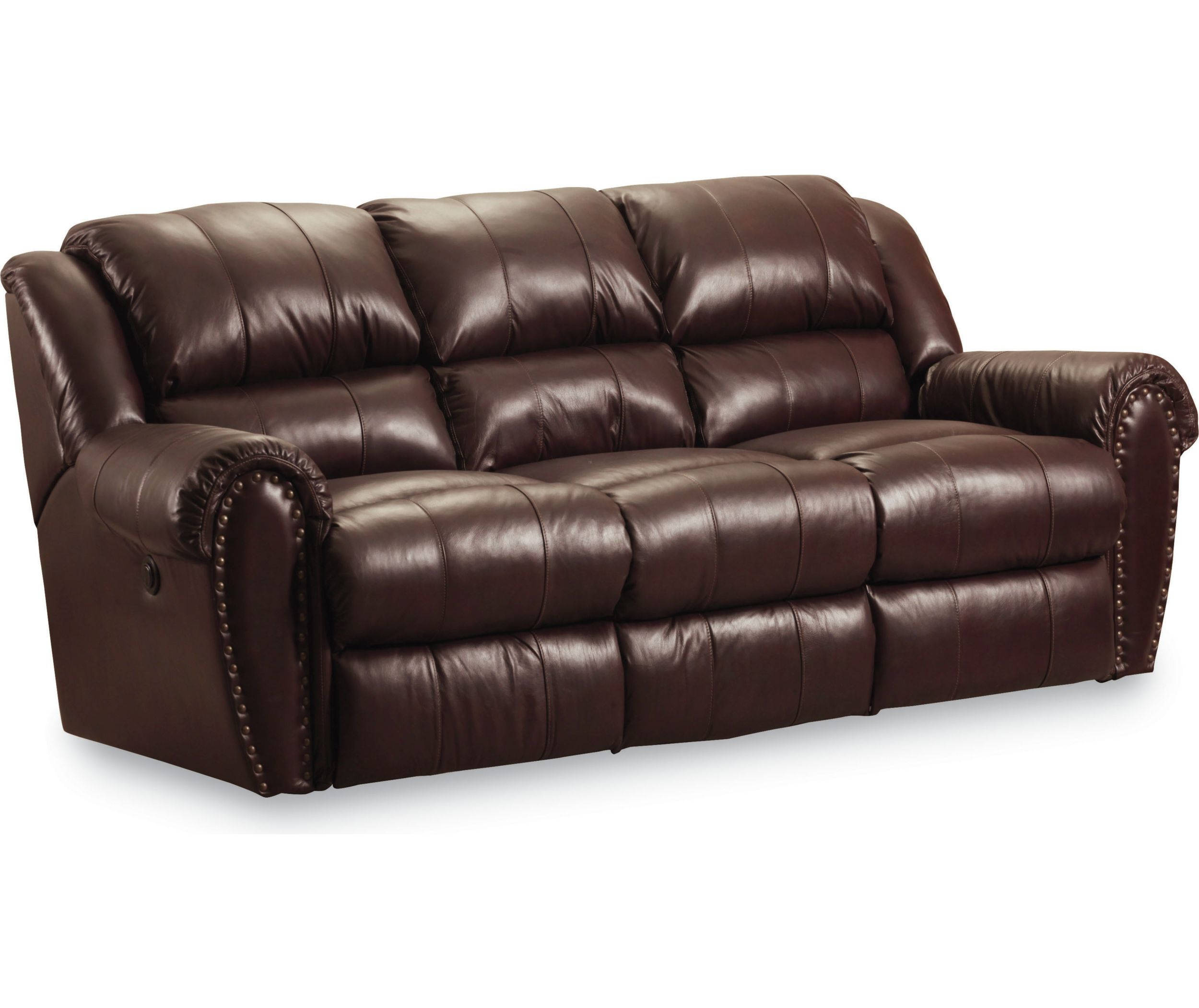Summerlin Traditional Brown Leather Power Double Reclining