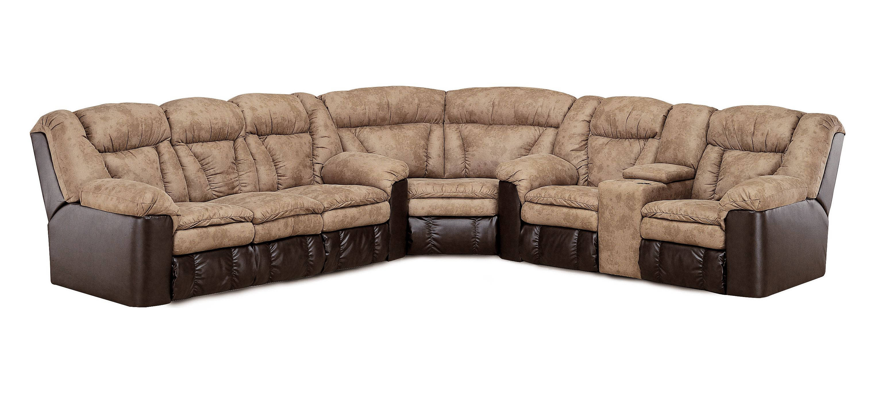 Lane Furniture Talon Brown Sectional Click To Enlarge