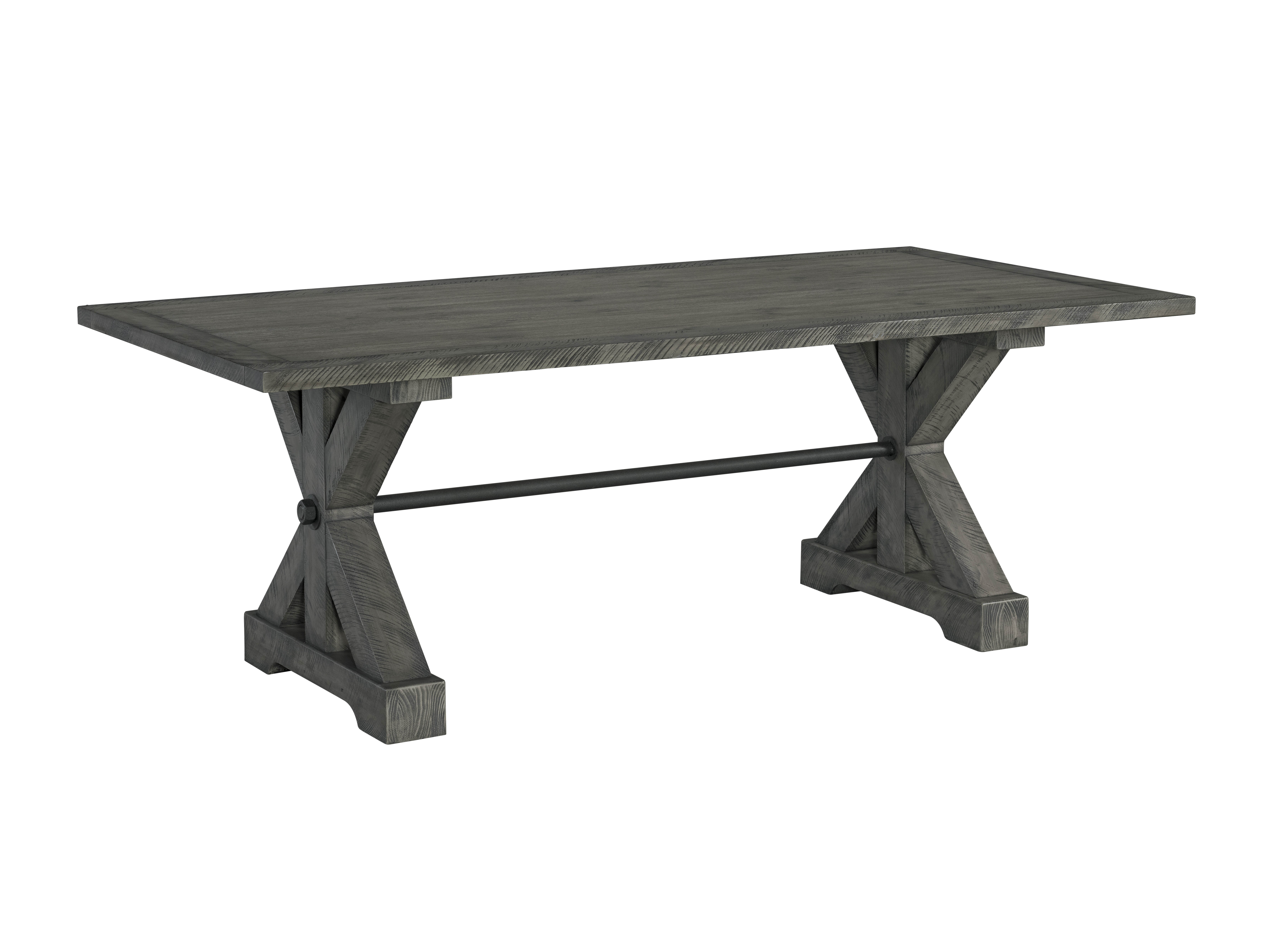 Miraculous Lane Furniture Old Forge Grey Trestle Dining Table Machost Co Dining Chair Design Ideas Machostcouk