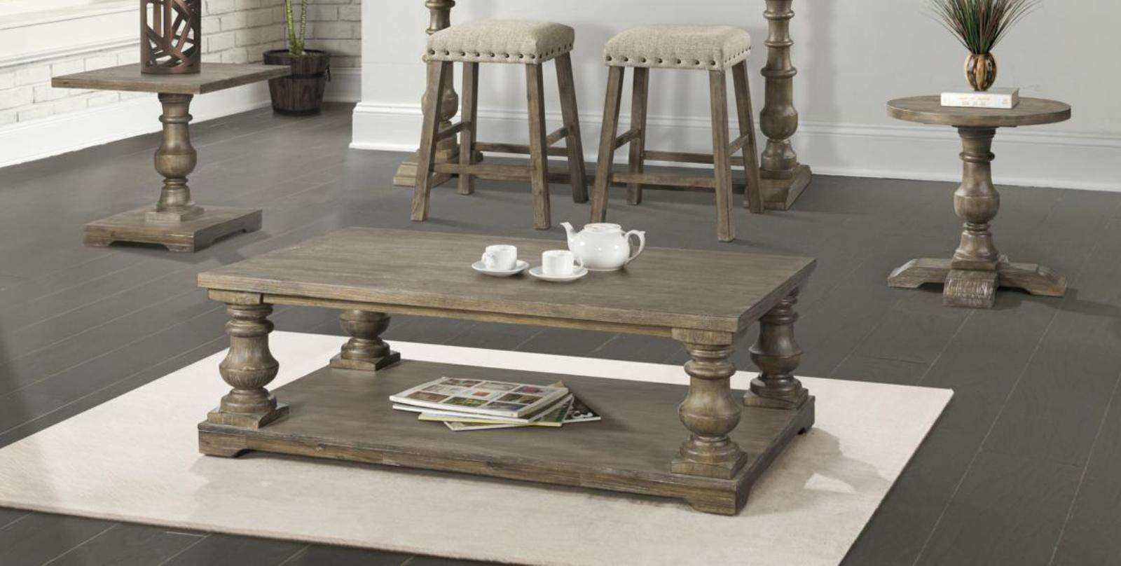Lane Furniture Charleston Oak 3pc Motion Coffee Table Set