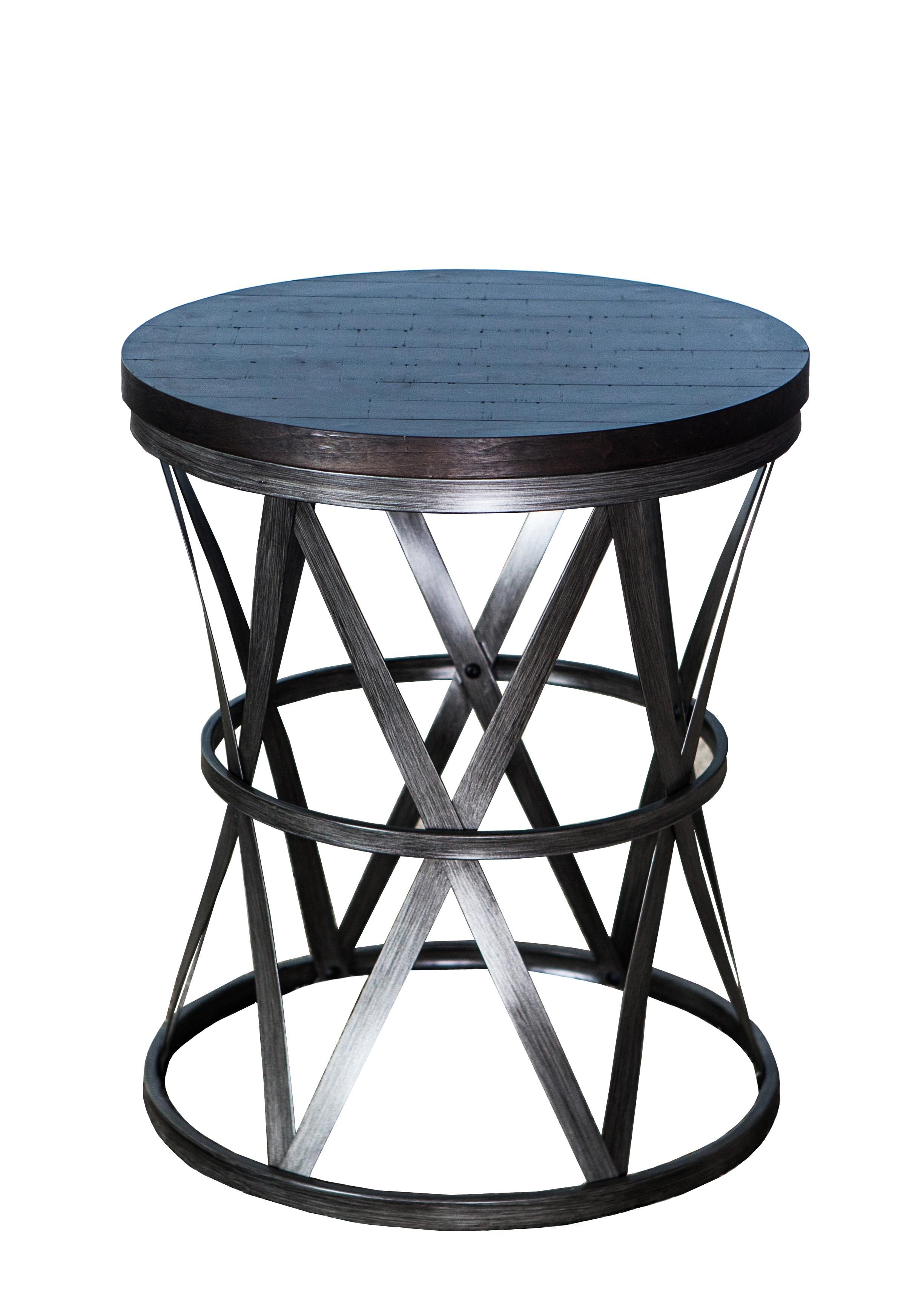 Lane Furniture Tobacco Metal Round Barrel Table The Classy Home