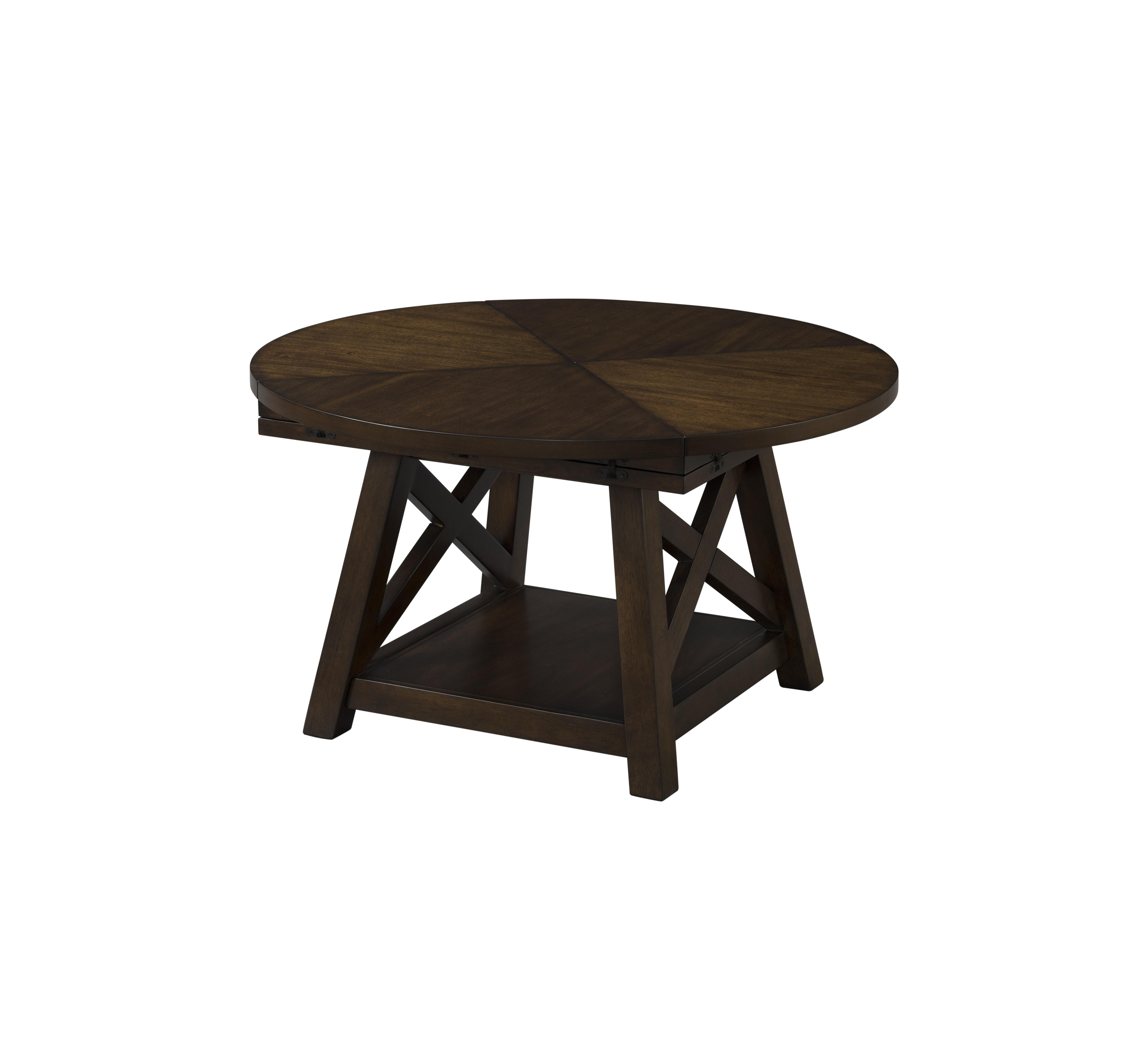 Lane Furniture Brown Cherry Flip Top Cocktail Table The Classy Home