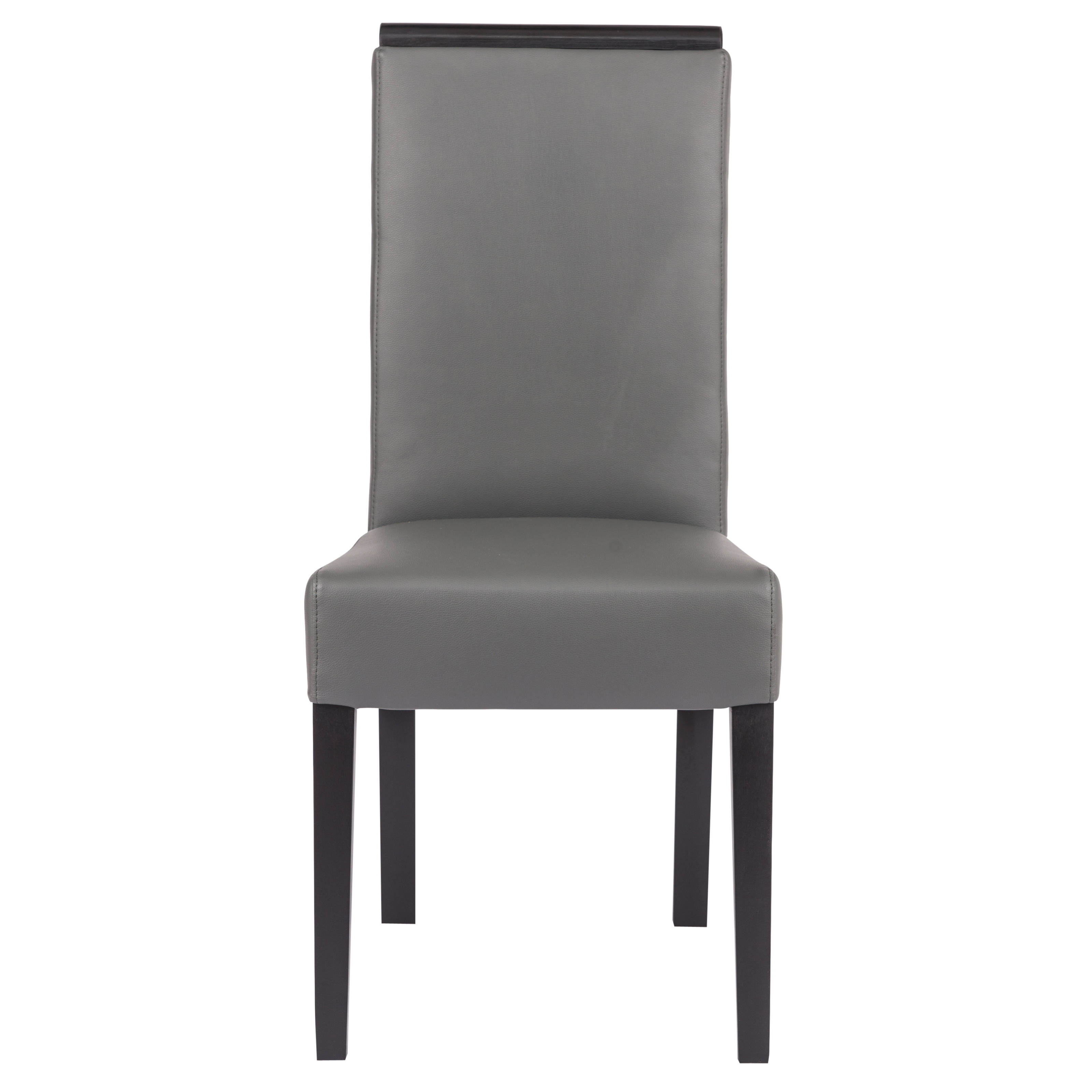 Magnificent Leisuremod Elroy Grey Faux Leather Dining Chair Unemploymentrelief Wooden Chair Designs For Living Room Unemploymentrelieforg