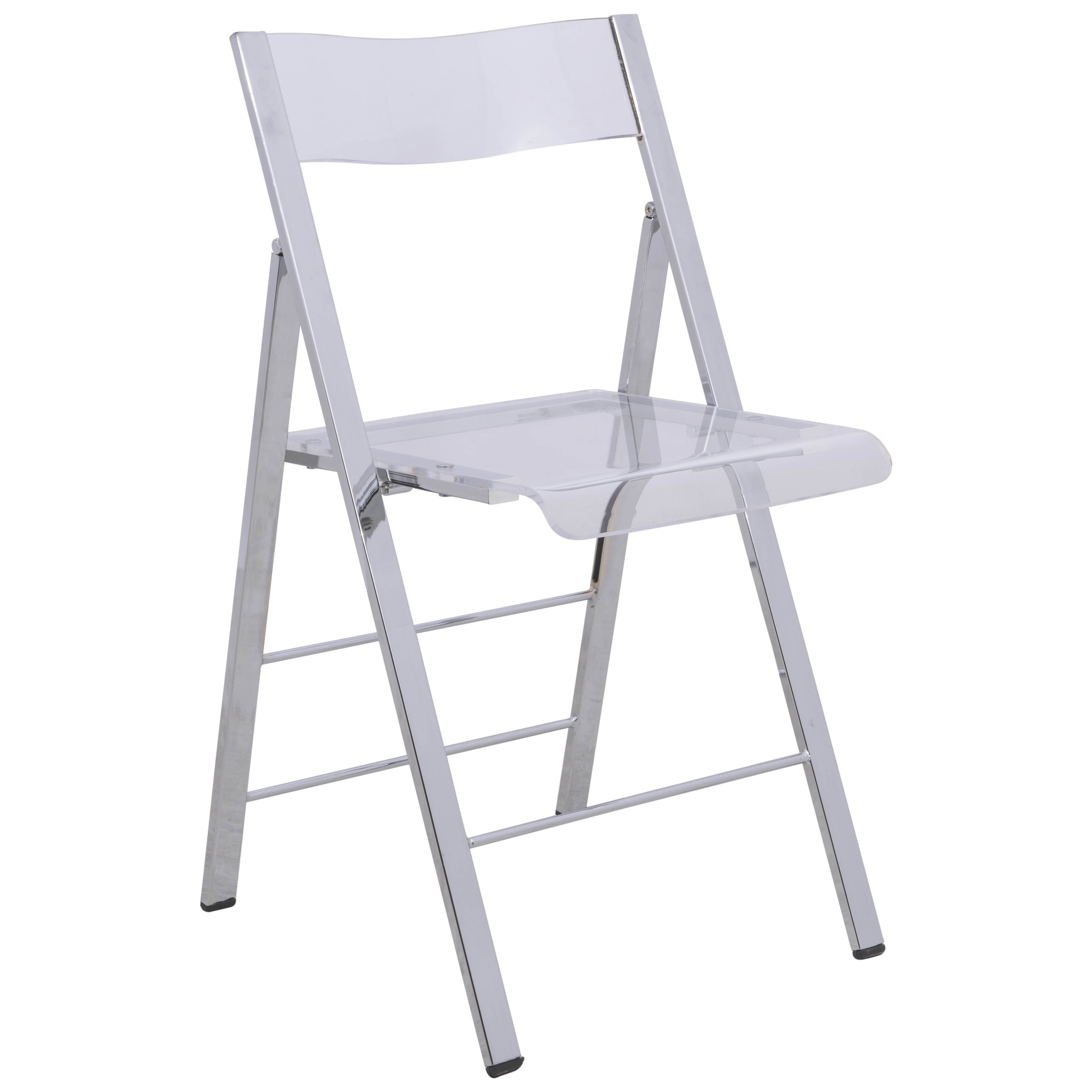 LeisureMod Menno Clear Folding Chair Click To Enlarge ...