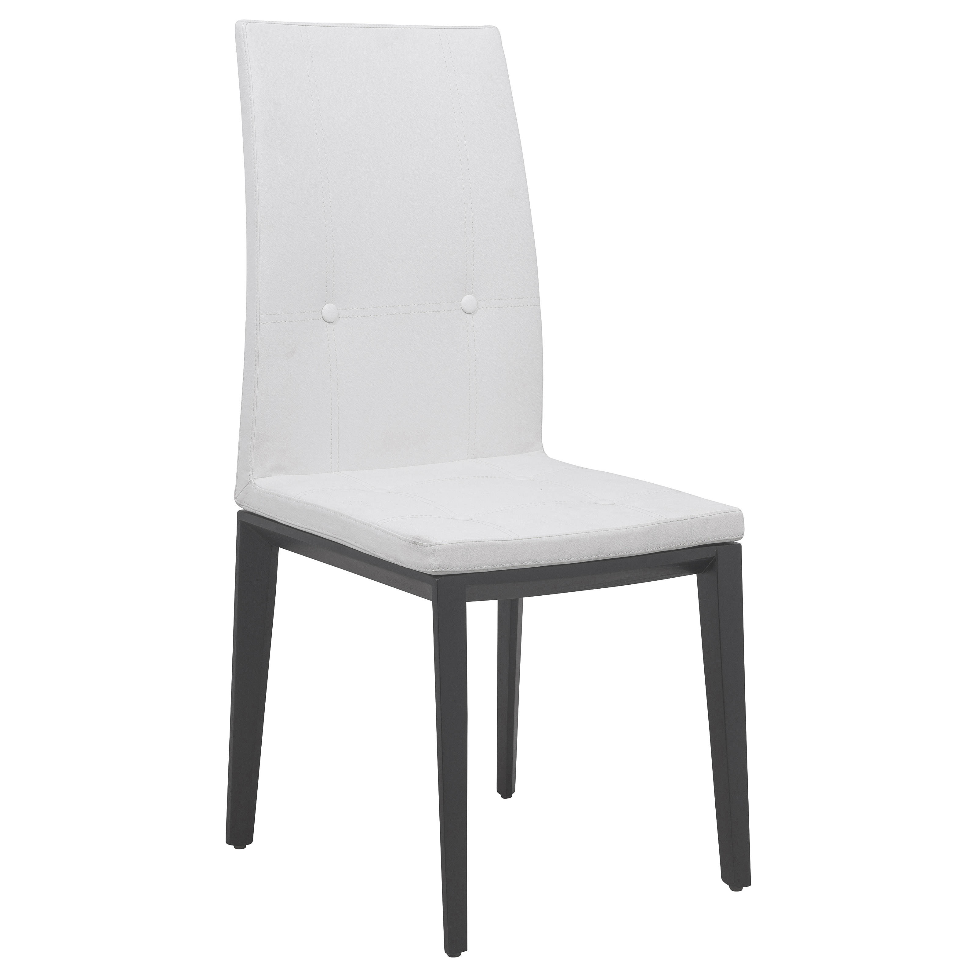 Leisuremod Somers White Faux Leather Dining Chair The Classy Home