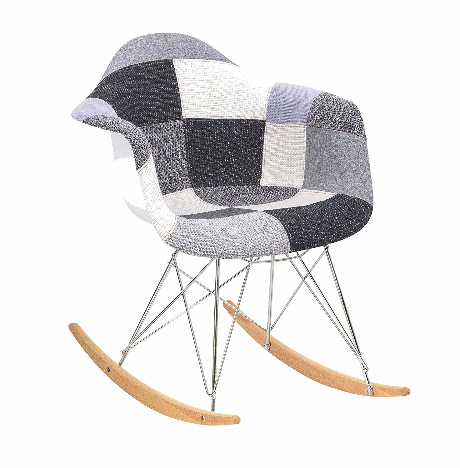 best sneakers ef006 6778a LeisureMod Wilson Patchwork Eiffel Rocking Chair