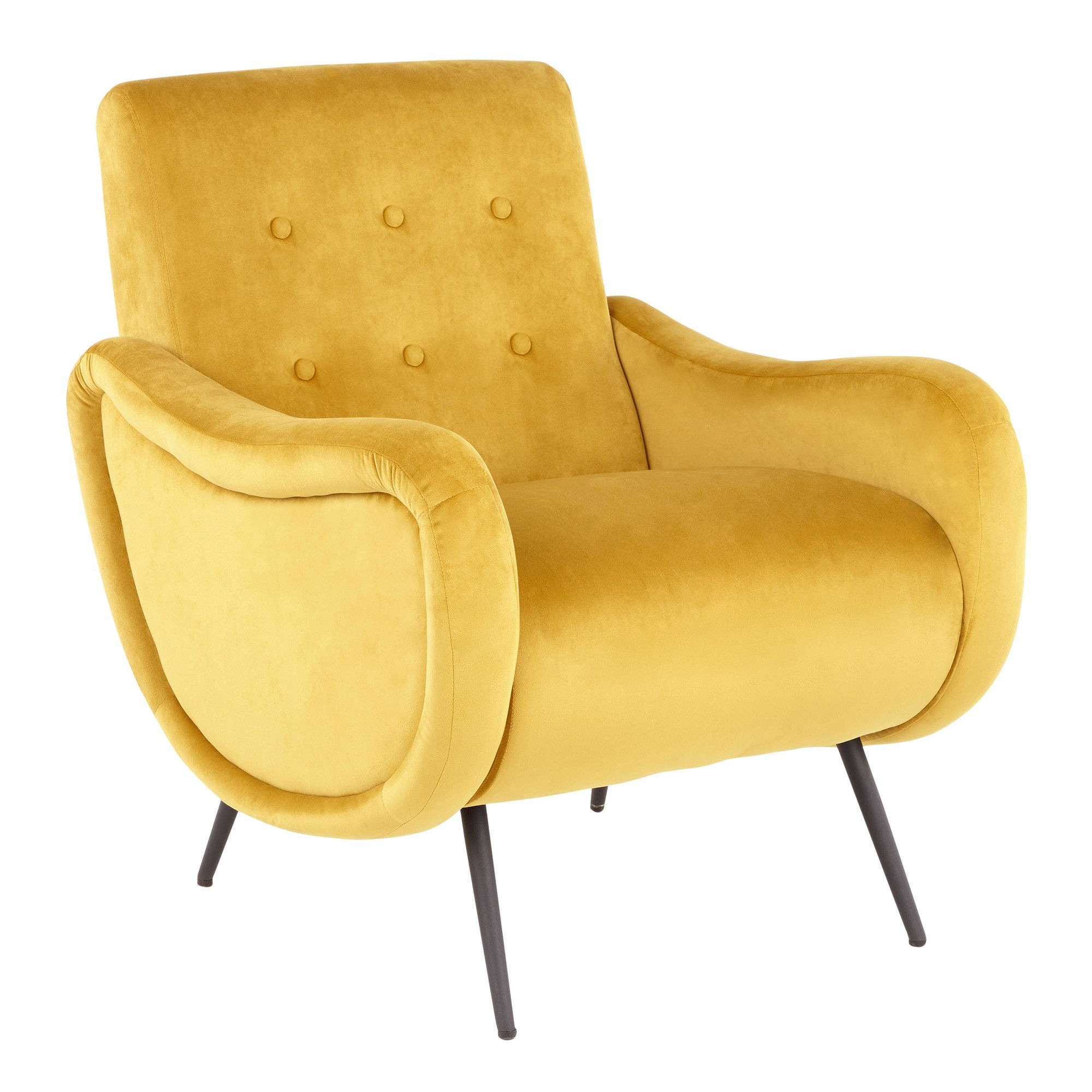 LumiSource Rafael Yellow Lounge Chair