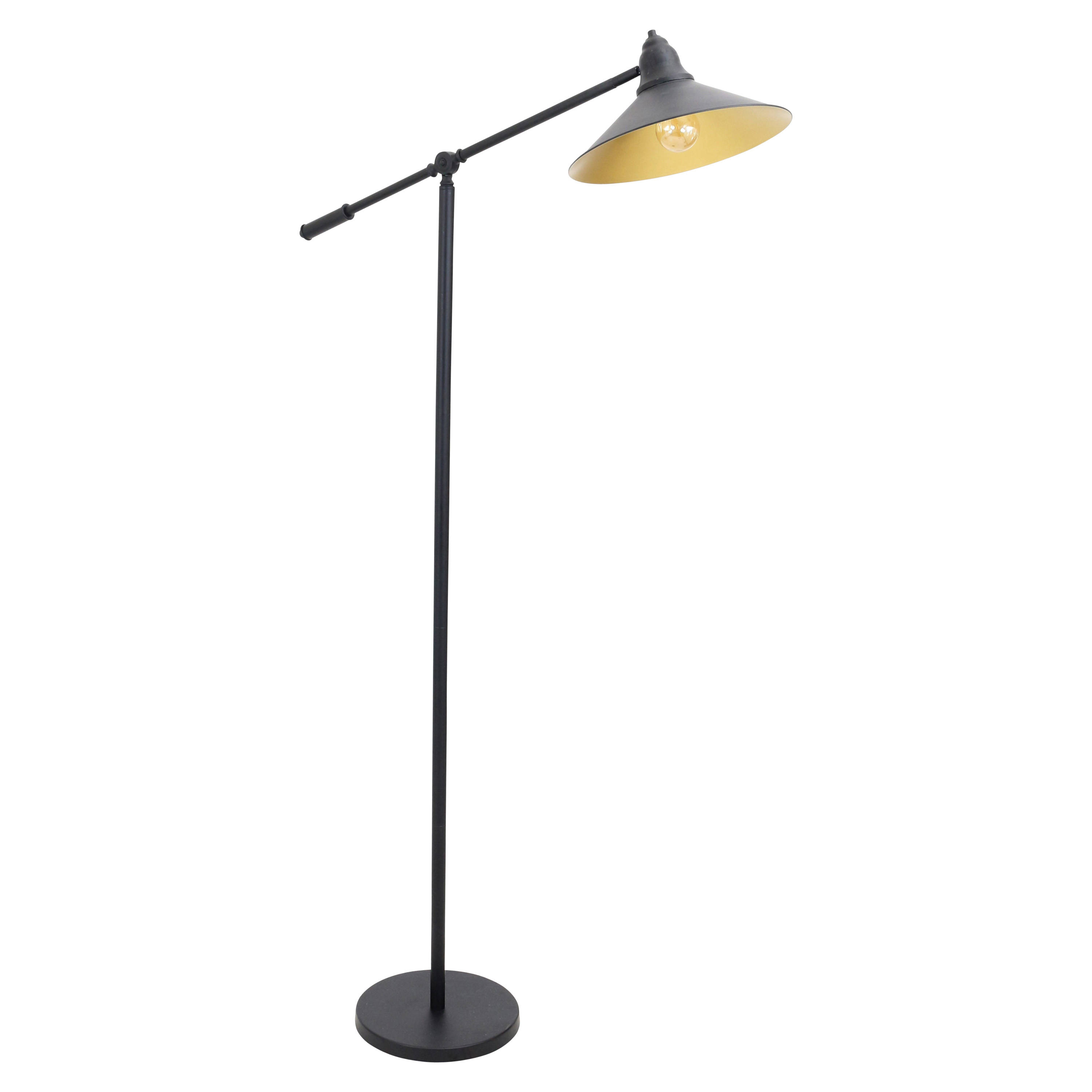 Lumisource Paddy Black Gold Floor Lamp Click To Enlarge