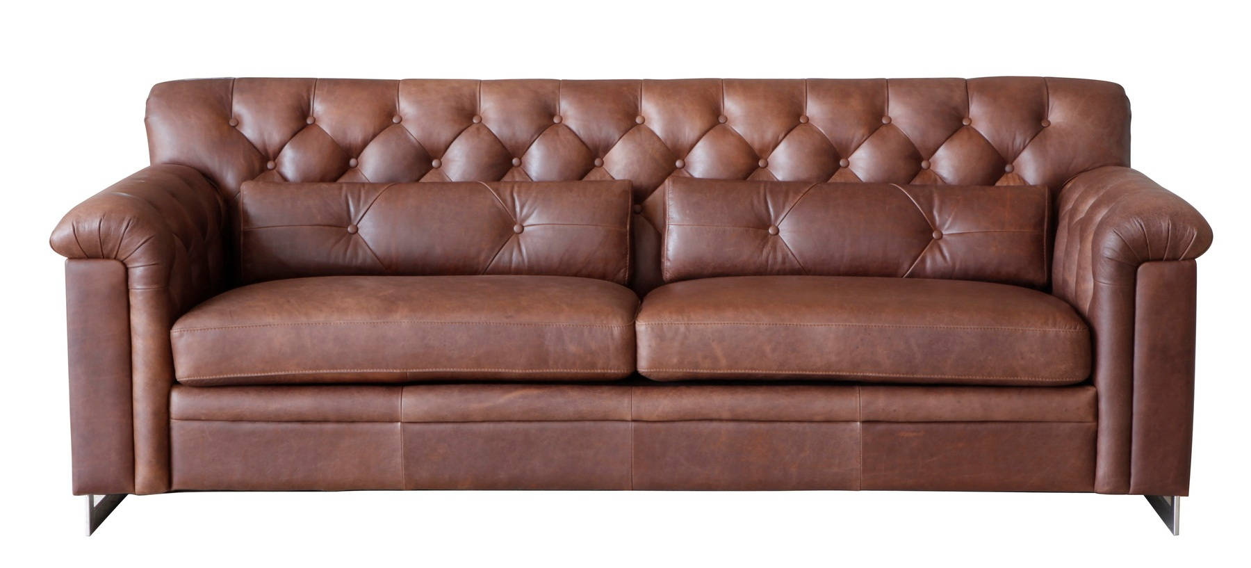 Lazzaro Hillcrest French Beige Tufted Sofa The Classy Home