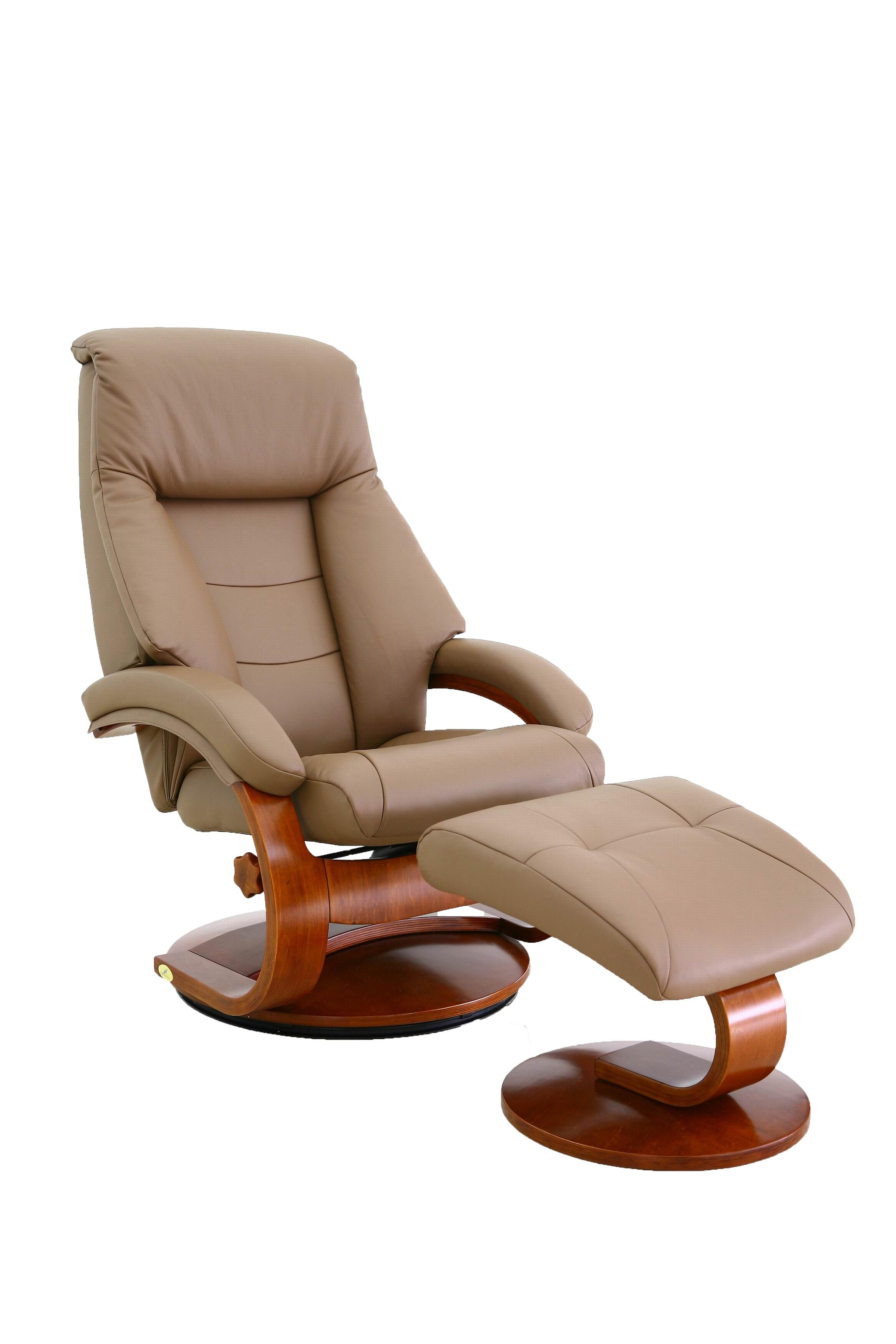 Magnificent Mac Motion Relax R Montreal Sand Tan Leather Recliner And Ottoman Set Pdpeps Interior Chair Design Pdpepsorg