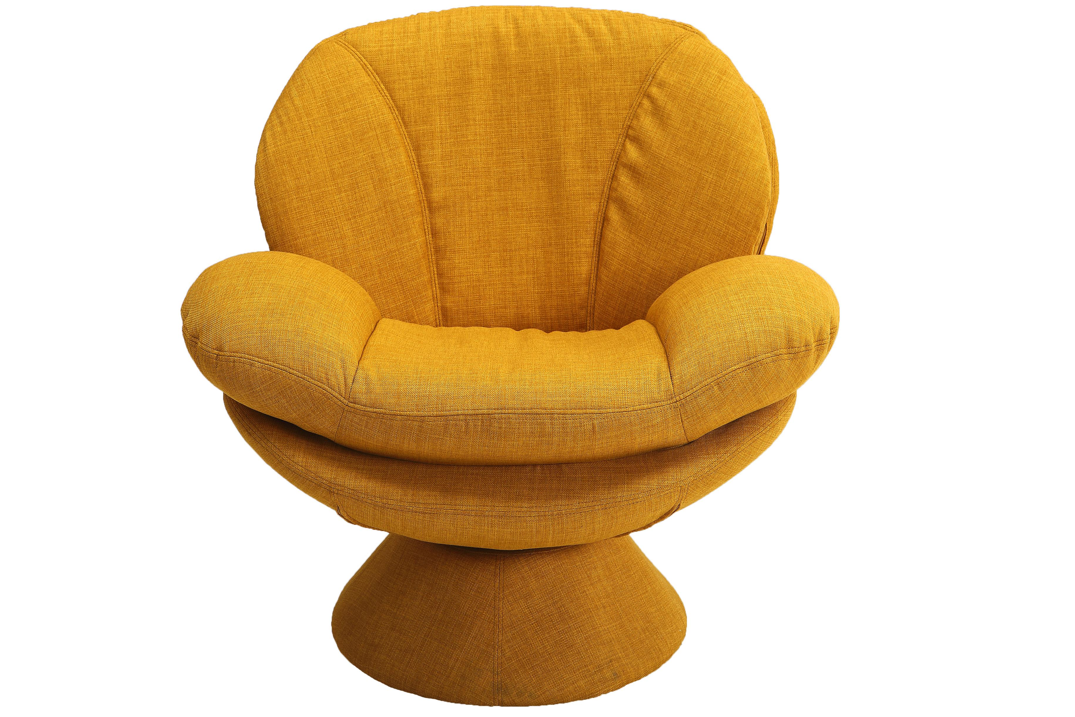 Mac Motion Relax R Port Yellow Fabric Leisure Accent Chair