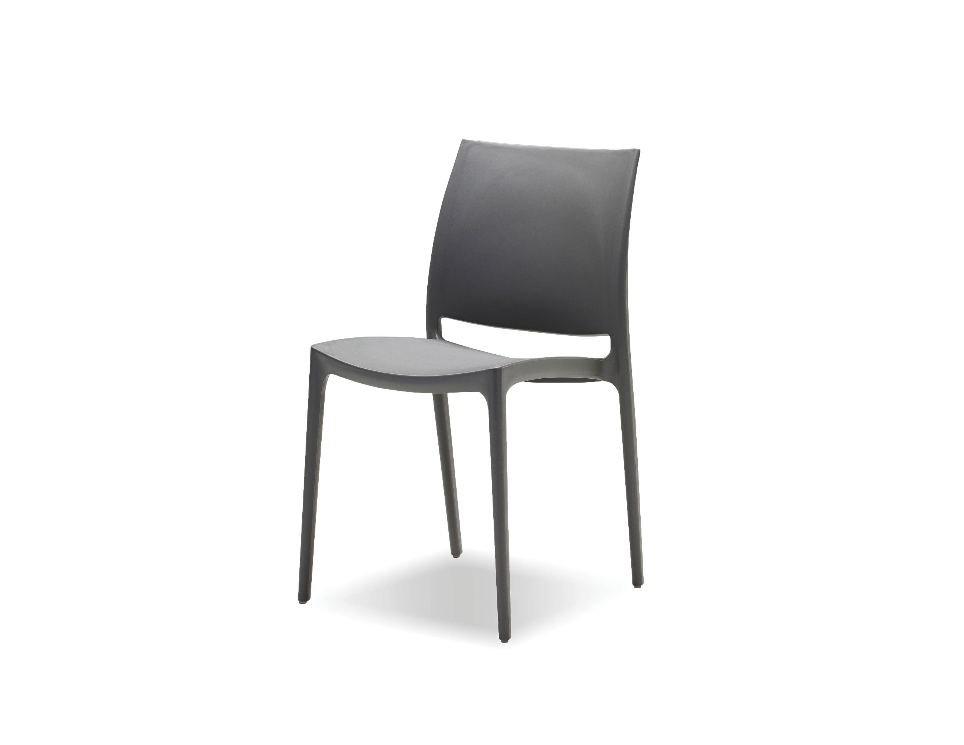 Surprising 4 Mobital Vata Grey Polypropylene Dining Chairs Gmtry Best Dining Table And Chair Ideas Images Gmtryco
