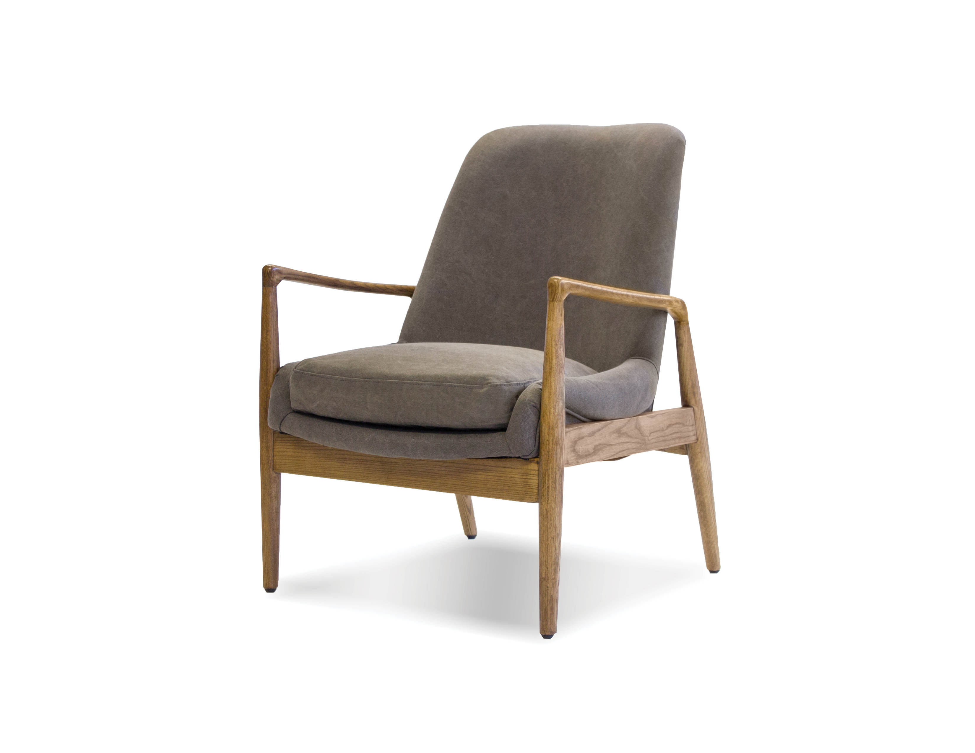 Awesome Mobital Reynolds Ash Grey Fabric Lounge Chair Machost Co Dining Chair Design Ideas Machostcouk