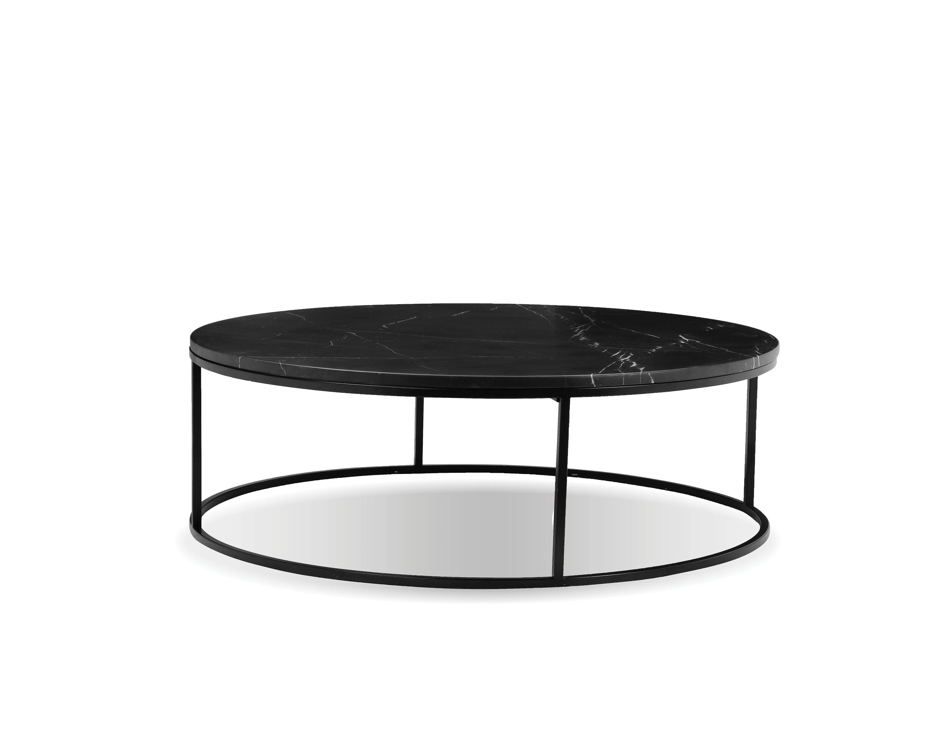 Mobital Onix Black Marble Round Coffee Table The Cly Home
