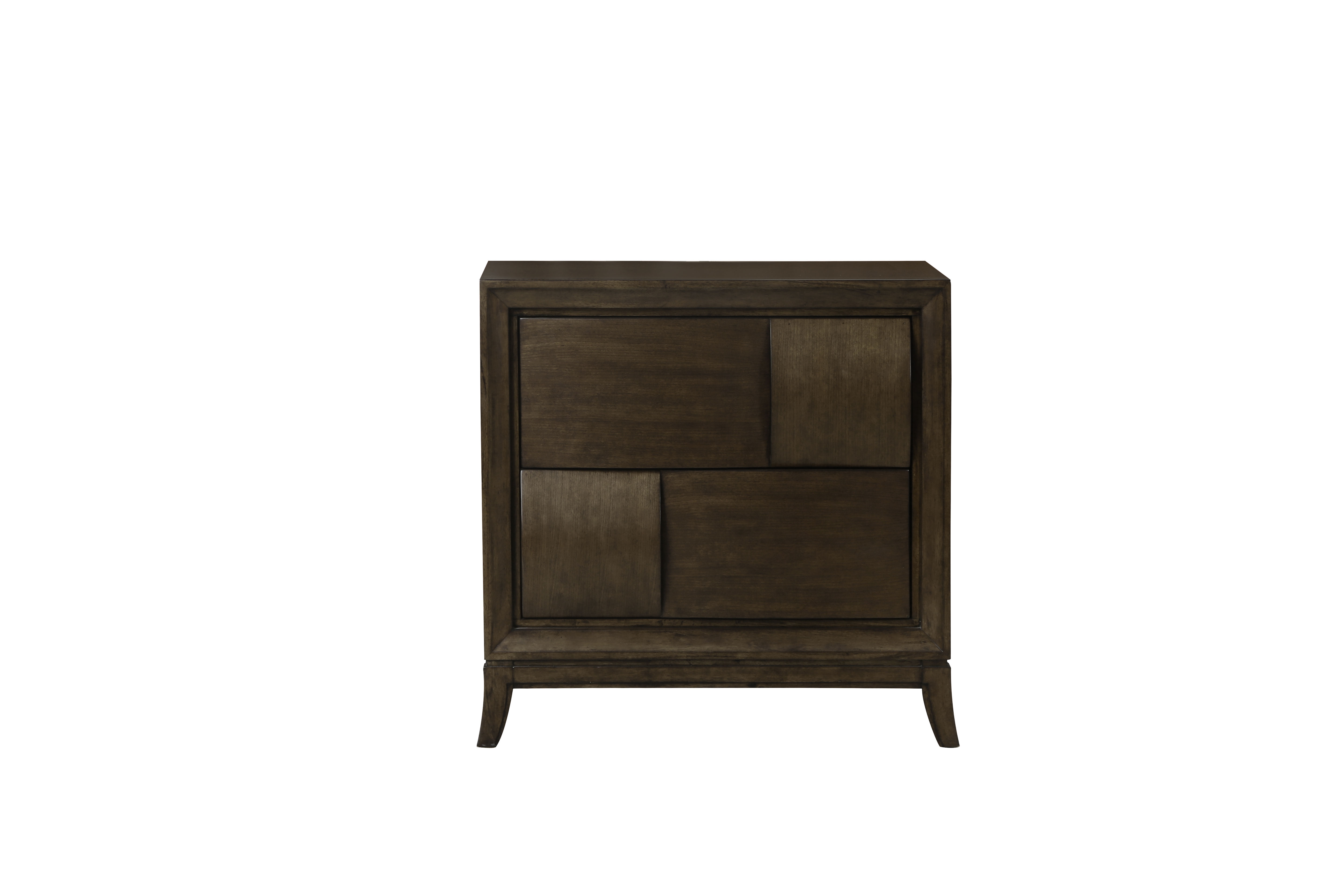 Ribbons Modern Coffee Wood Drawer Nightstand The Classy Home