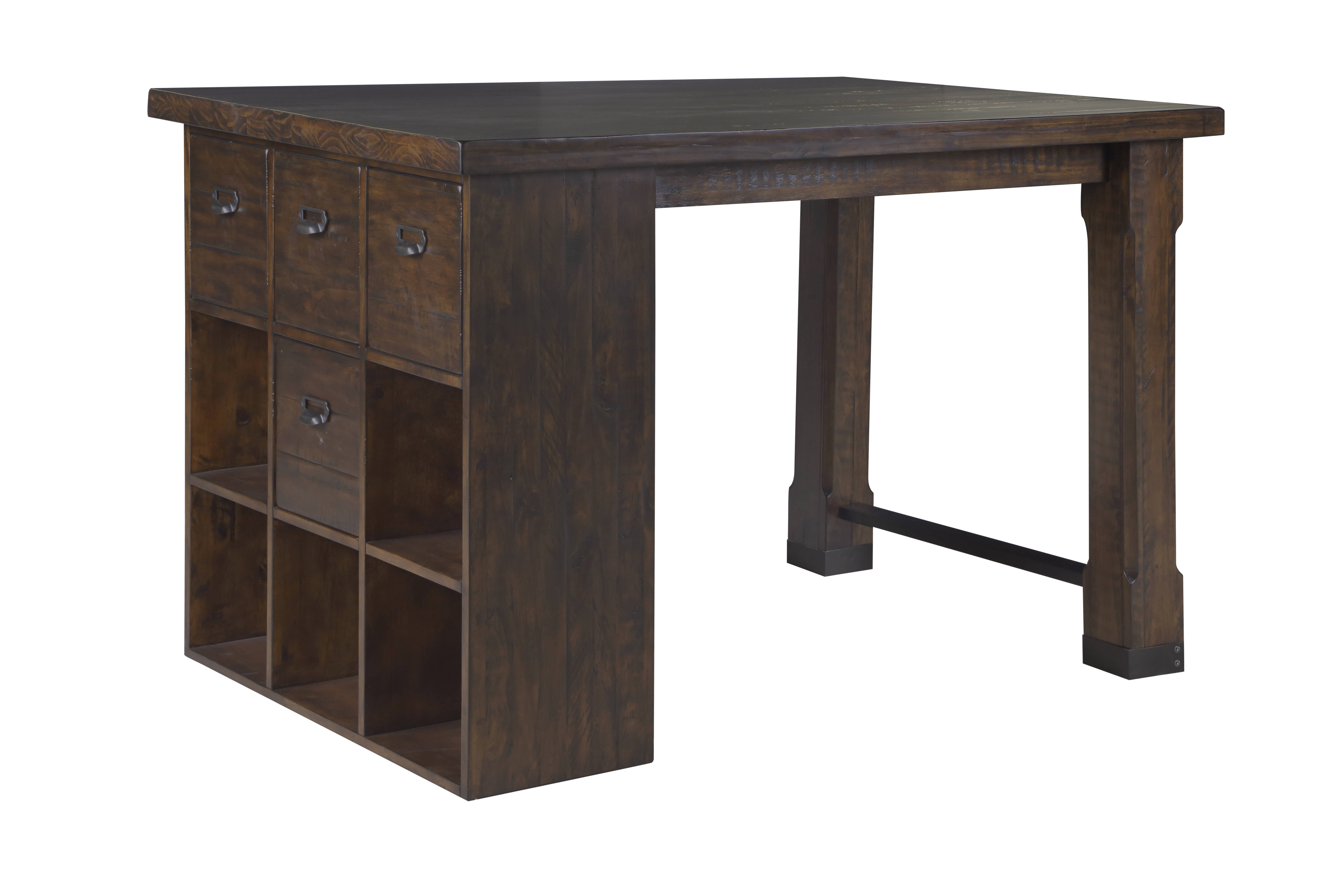 Magnussen Home Pine Hill Wood Counter Height Desk The Classy Home