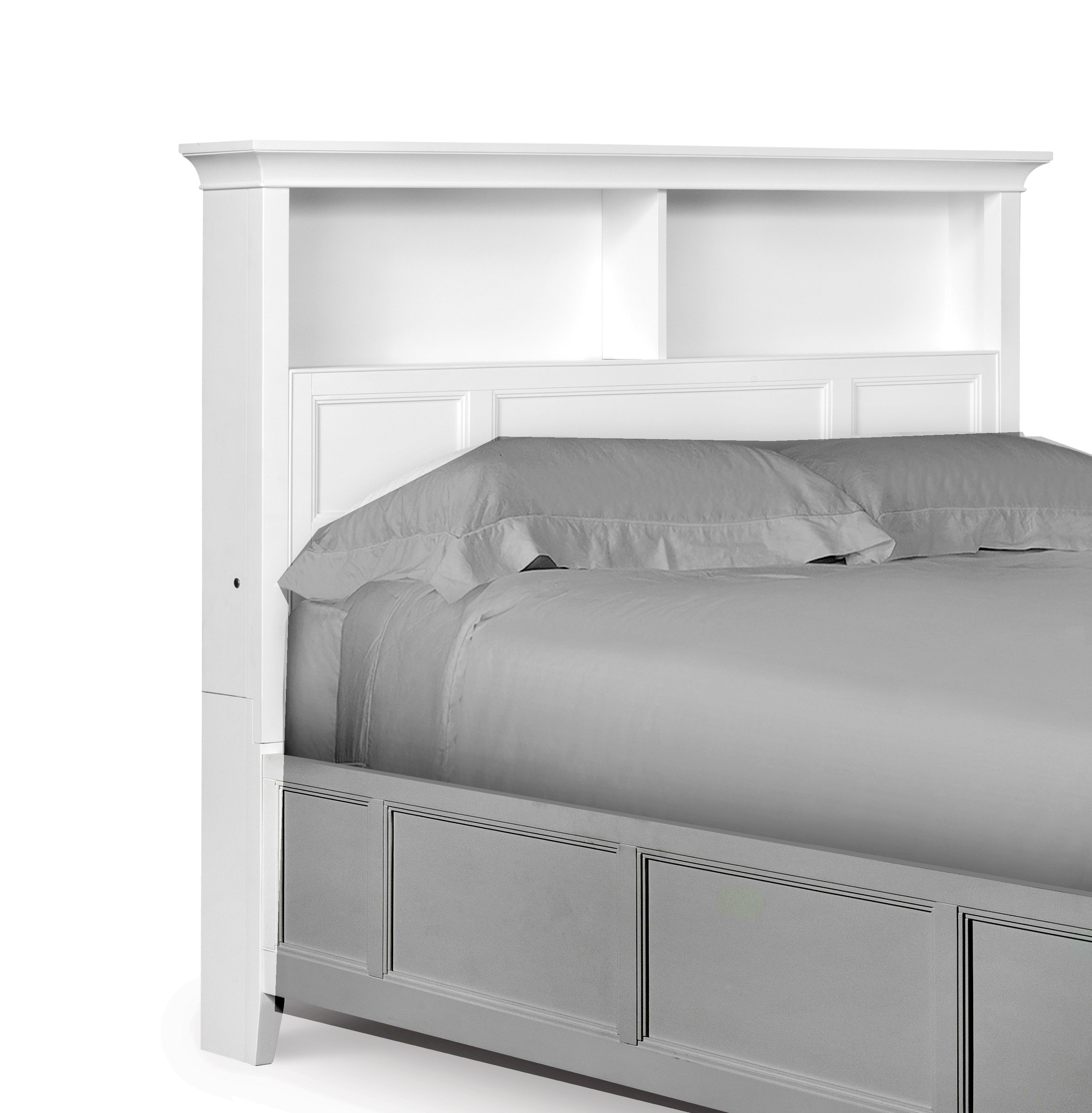 Magnussen Home Kenley White Twin Bookcase Headboard The