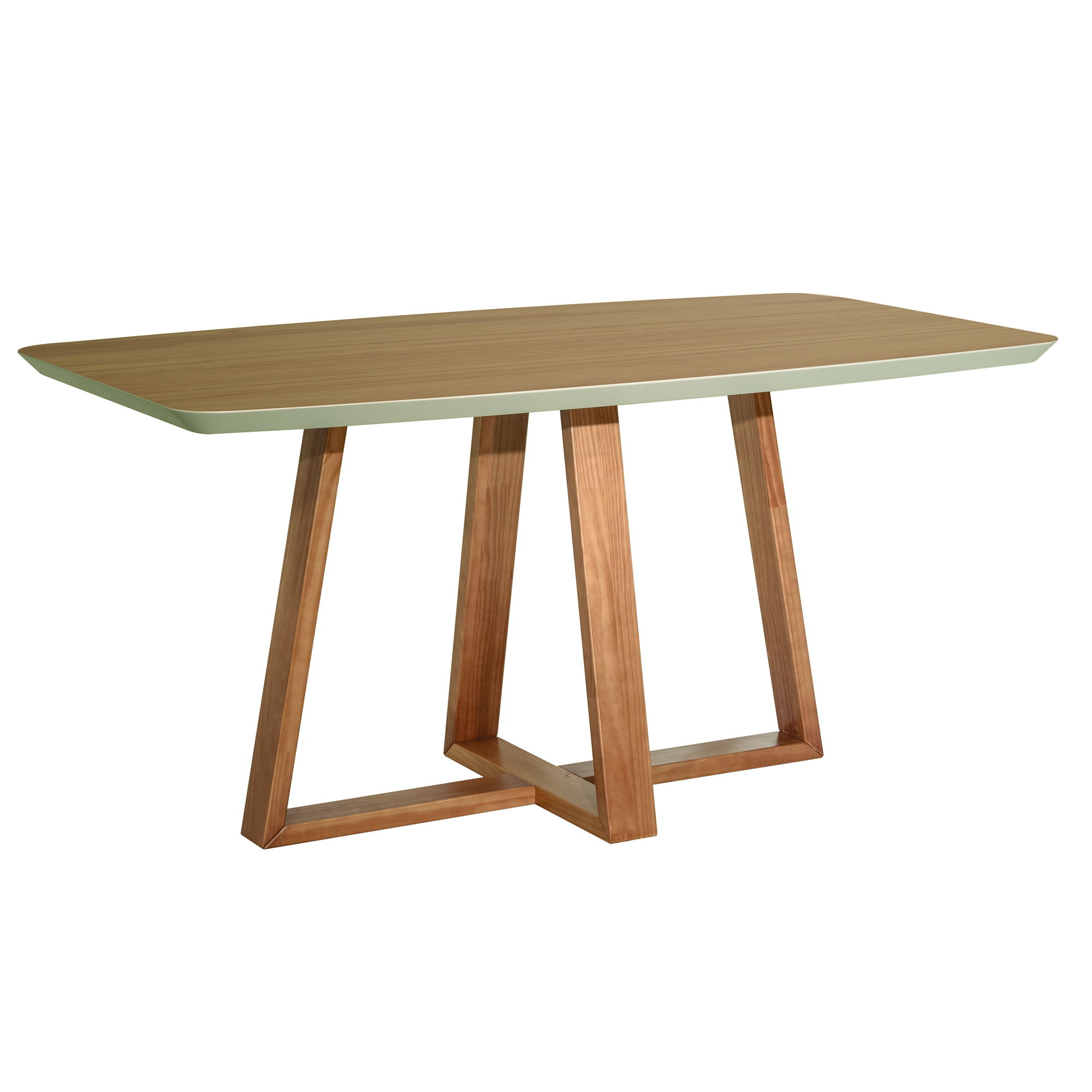 Manhattan Comfort Duffy Cinnamon Solid Wood Rectangle Dining Table