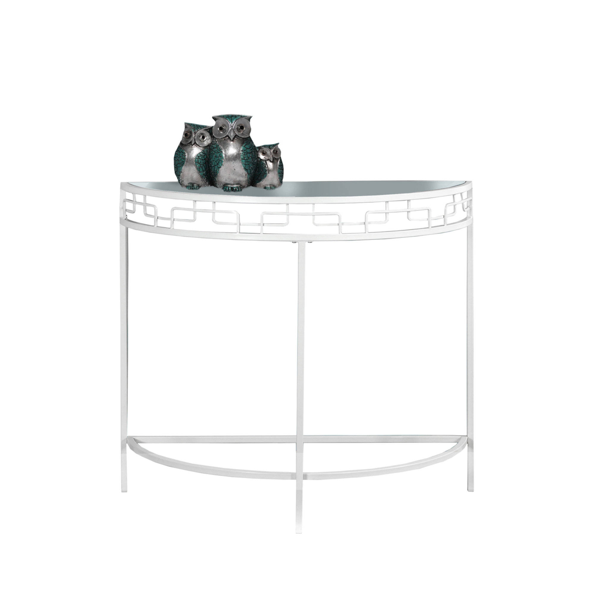 Brilliant Monarch Specialties White Clear Glass Hall Console Accent Table Interior Design Ideas Inesswwsoteloinfo