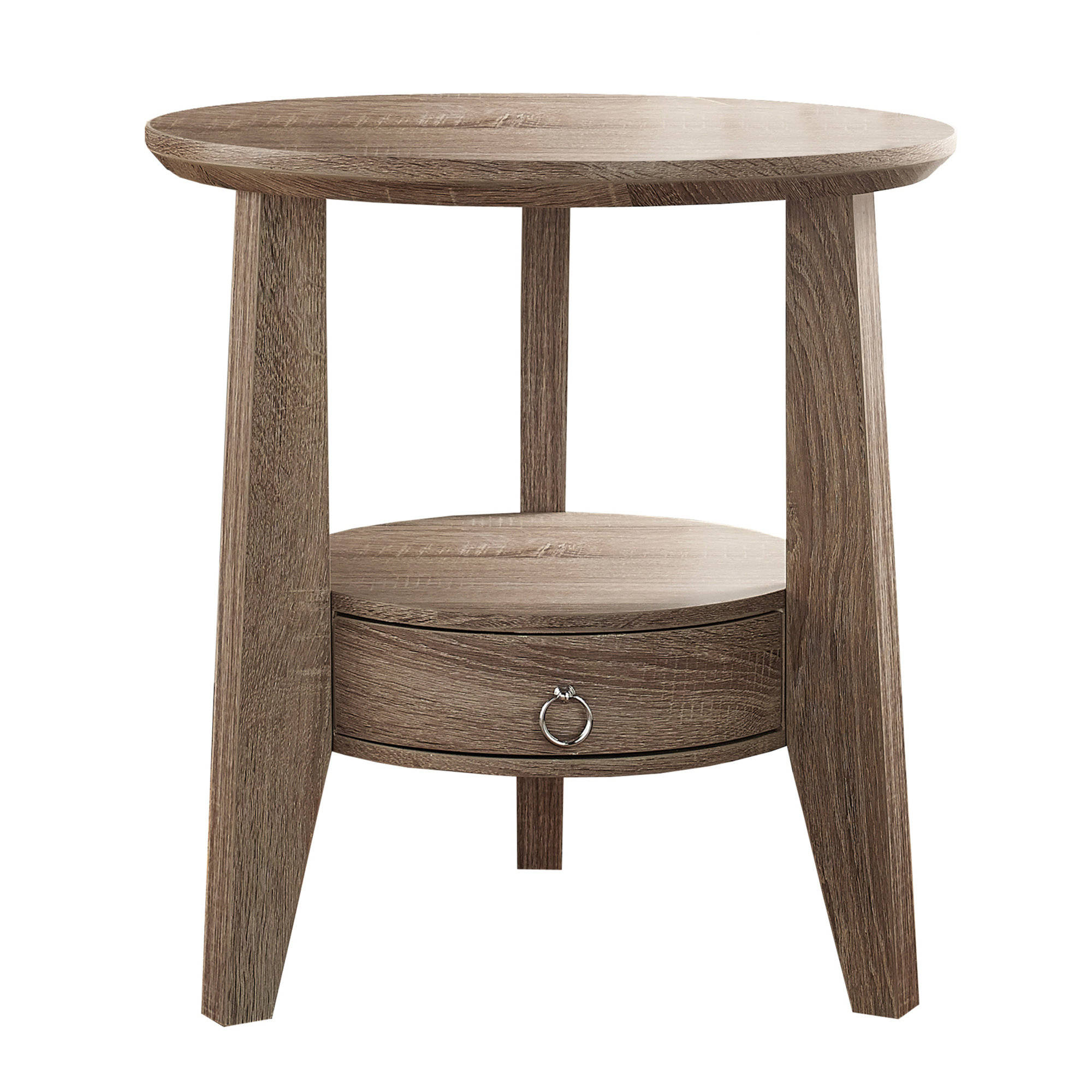 Beau Monarch Specialties Taupe Accent End Table