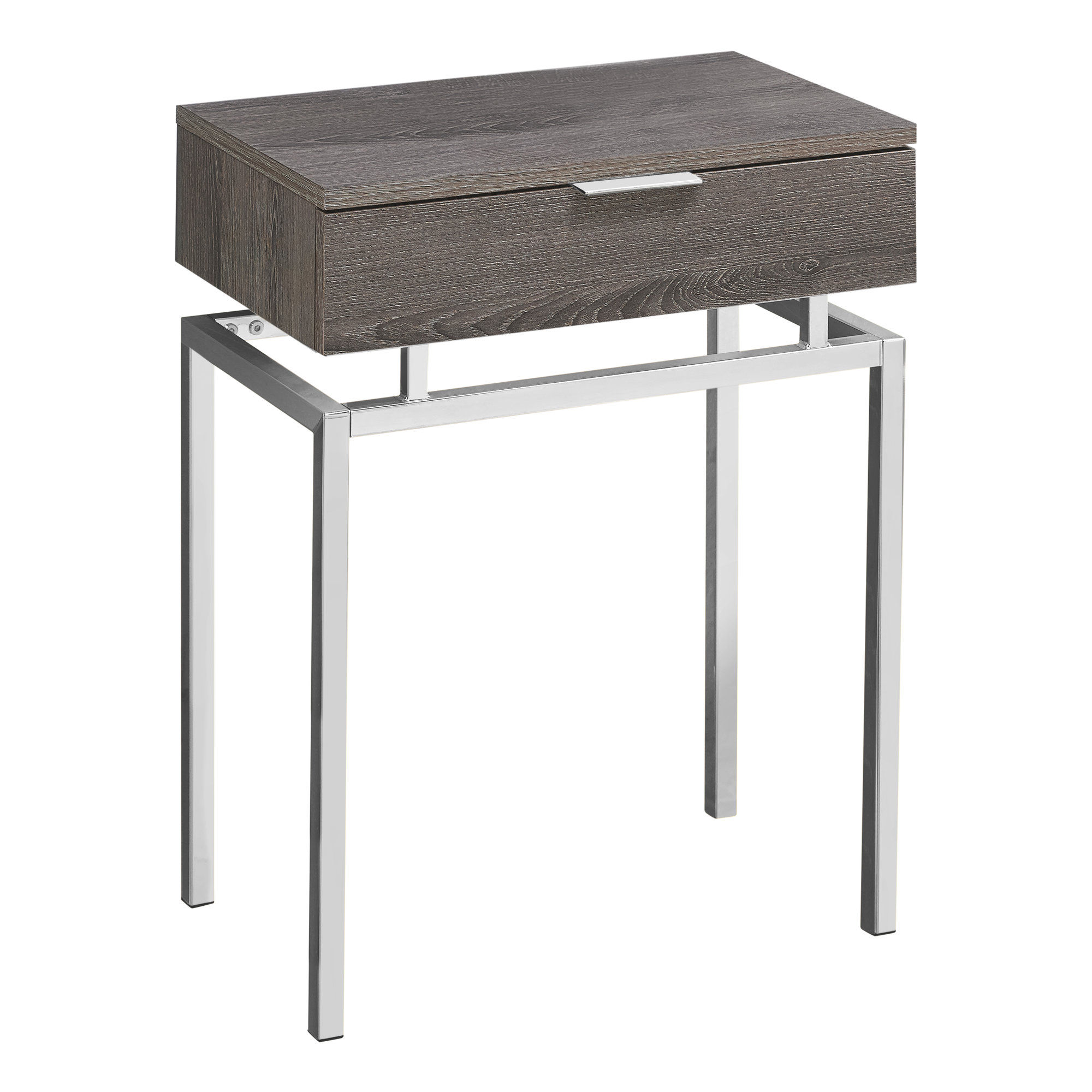 Monarch Specialties Dark Taupe Mdf 24 Inch Accent Table