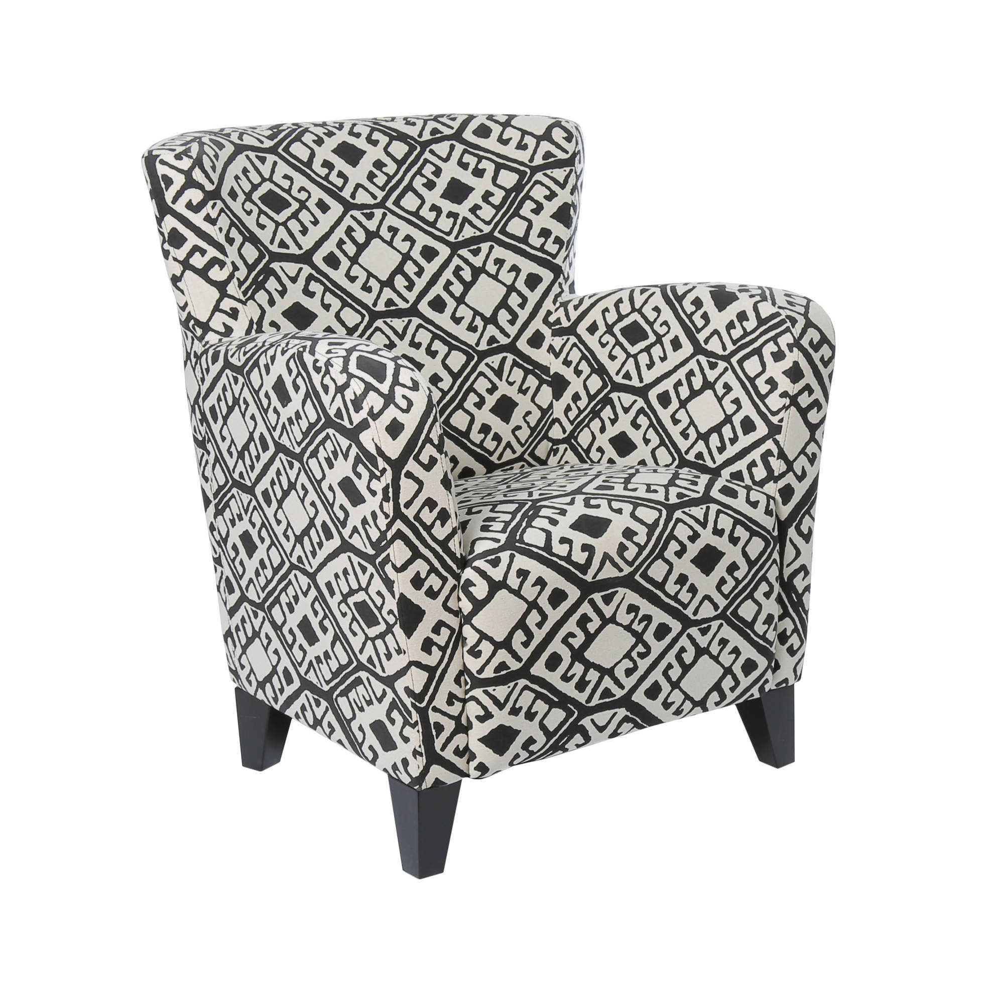 Monarch Specialties Black Beige Fabric Accent Chair Click To Enlarge ...
