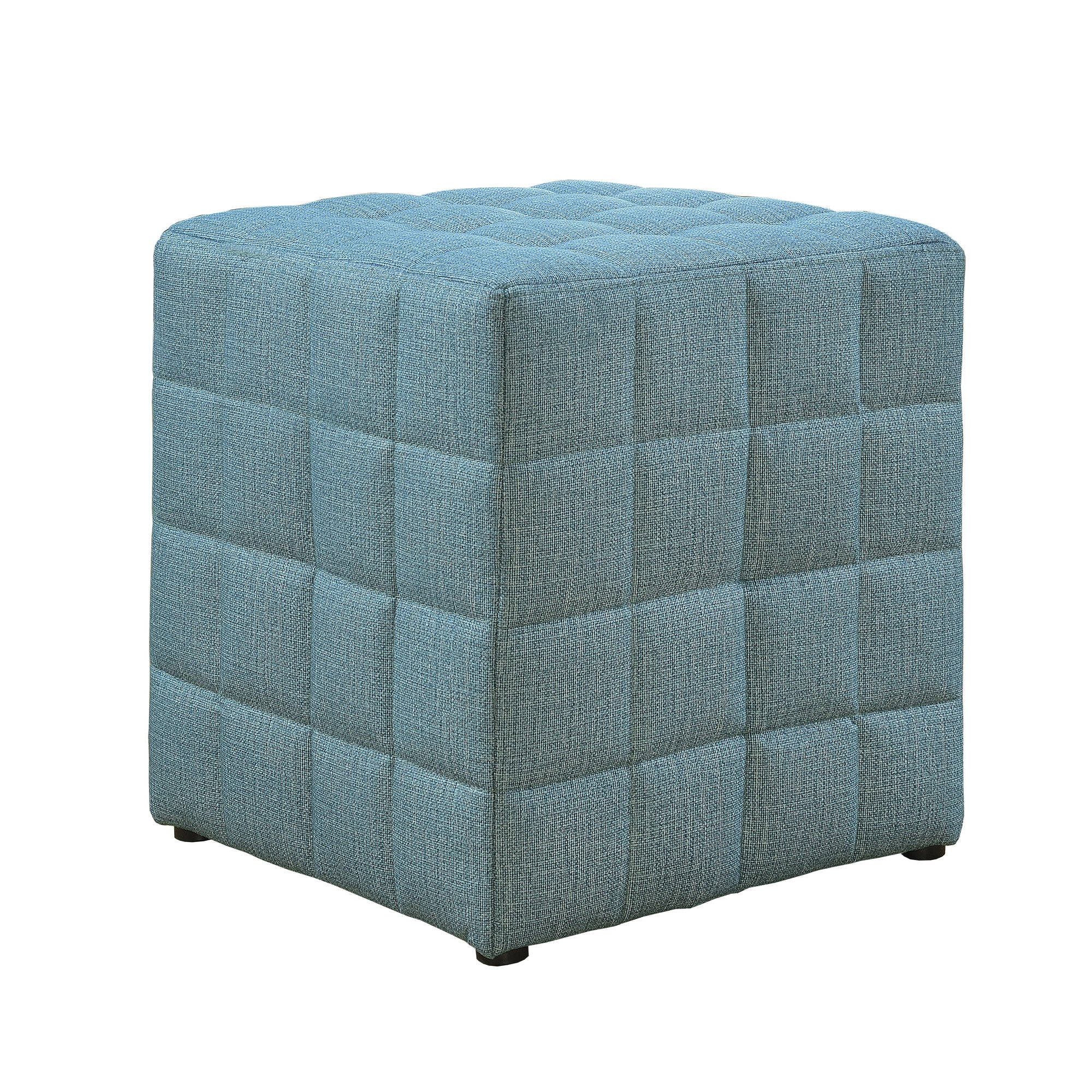 Monarch Specialties Light Blue Fabric Ottoman The Classy Home
