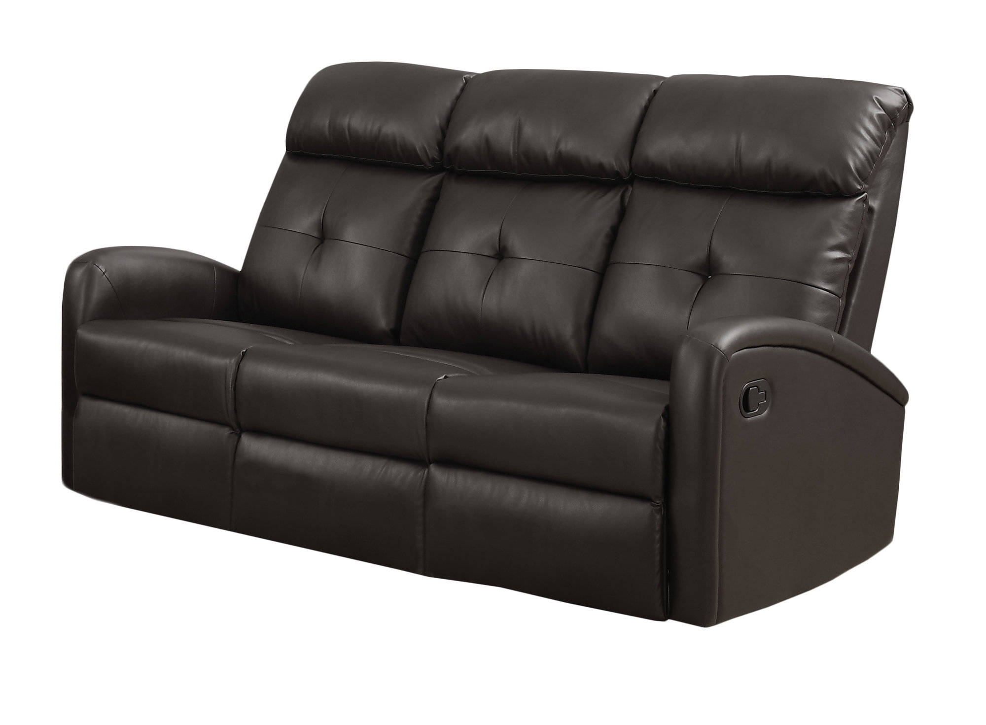 Magnificent Monarch Specialties Brown Tufted Back Reclining Sofa The Ncnpc Chair Design For Home Ncnpcorg