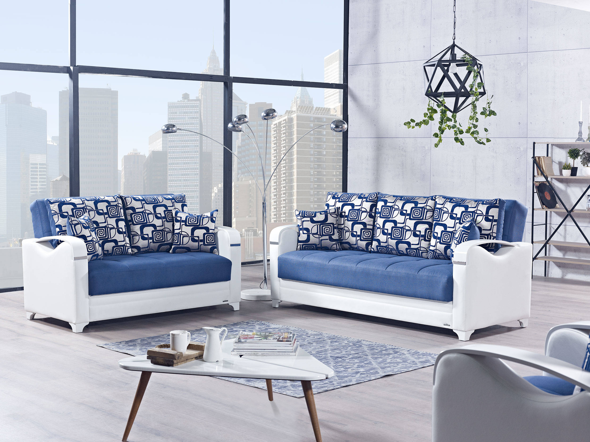 Astonishing Mobetto Vintage Navy Blue Fabric Pu Mdf Plywood 3Pc Living Room Set Download Free Architecture Designs Scobabritishbridgeorg