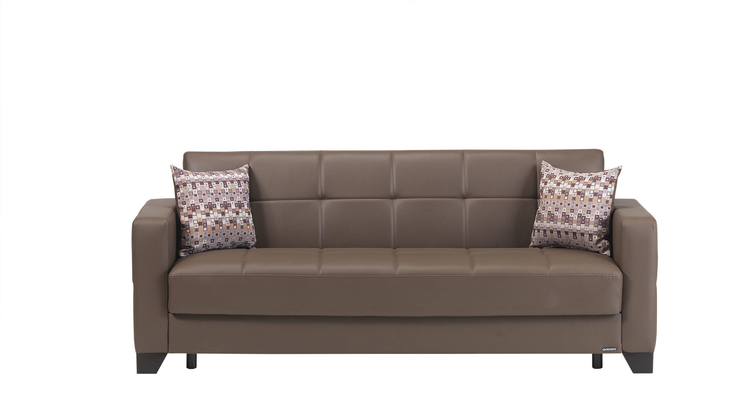 Viva Italia Prestige Brown Faux Leather MDF Plywood Sofa Bed