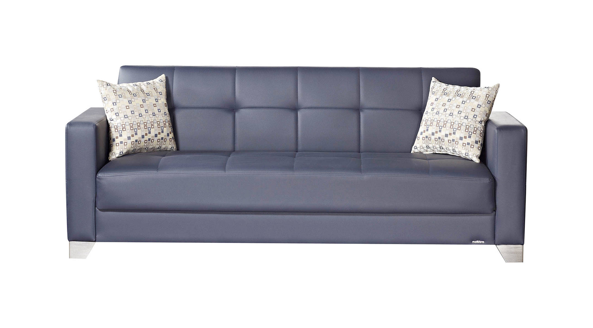Awesome Viva Italia Prestige Navy Blue Faux Leather Mdf Plywood Sofa Squirreltailoven Fun Painted Chair Ideas Images Squirreltailovenorg