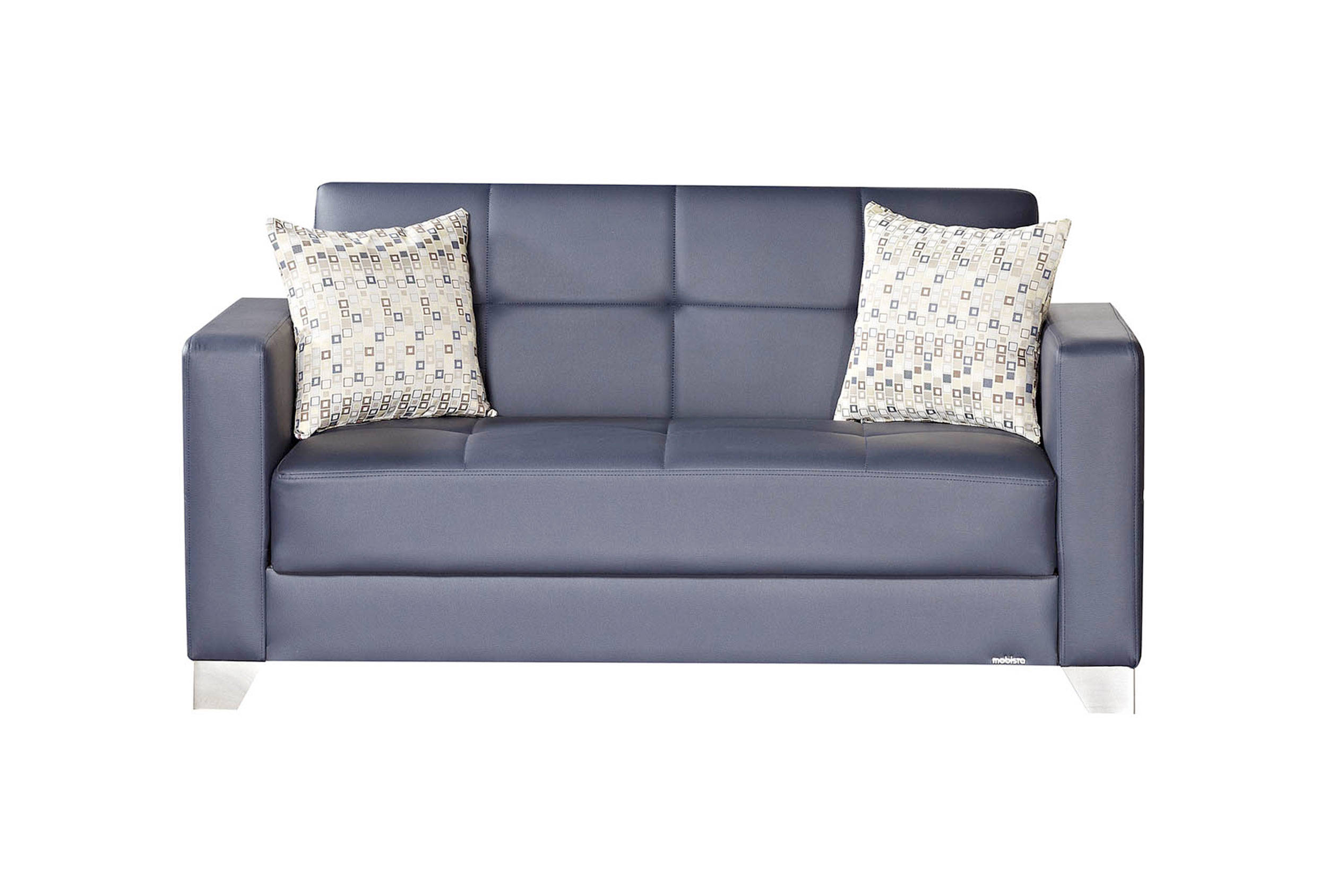 Stupendous Viva Italia Prestige Navy Blue Faux Leather Mdf Plywood Loveseat Squirreltailoven Fun Painted Chair Ideas Images Squirreltailovenorg