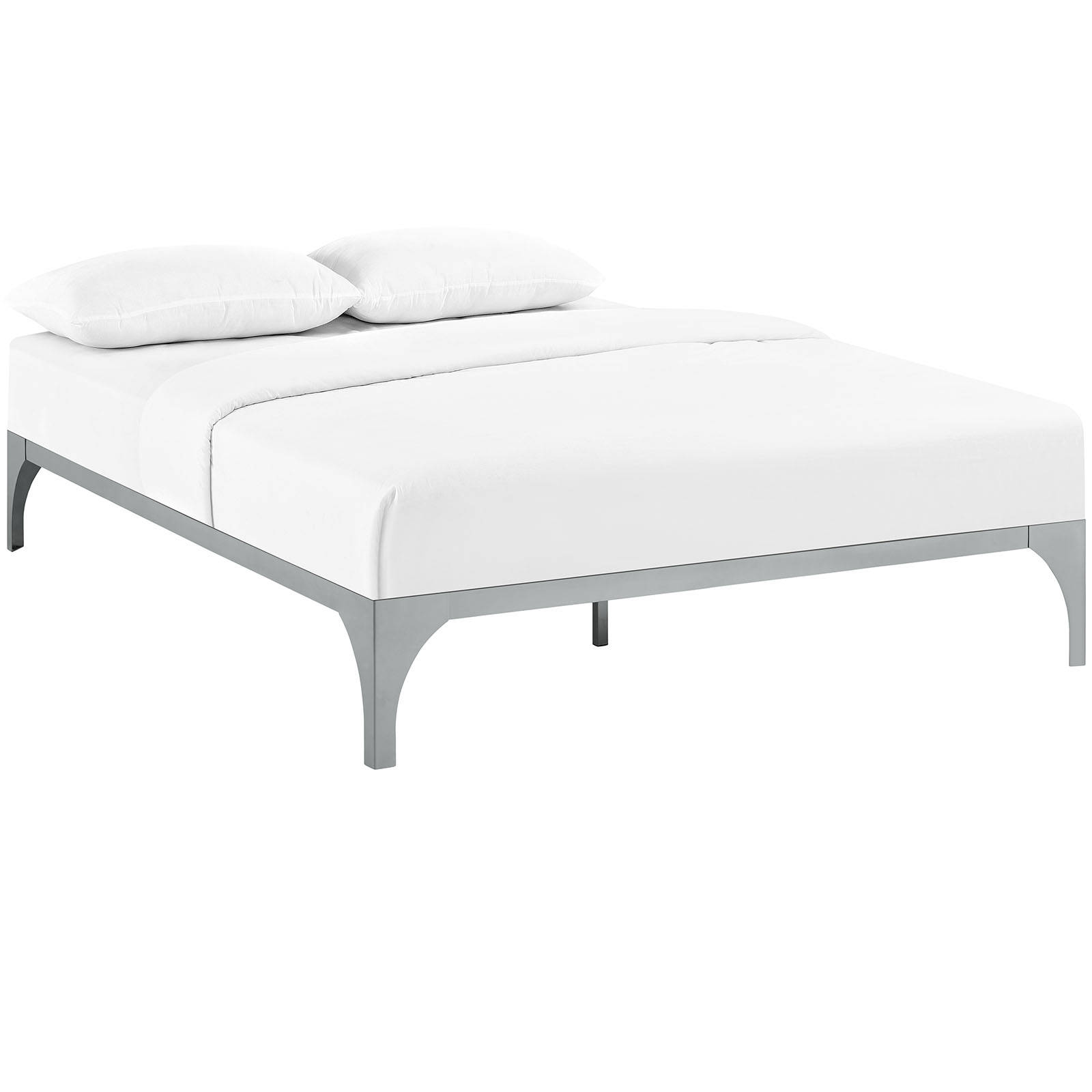 cb341a517f Modway Furniture Ollie Gray Queen Bed Frame