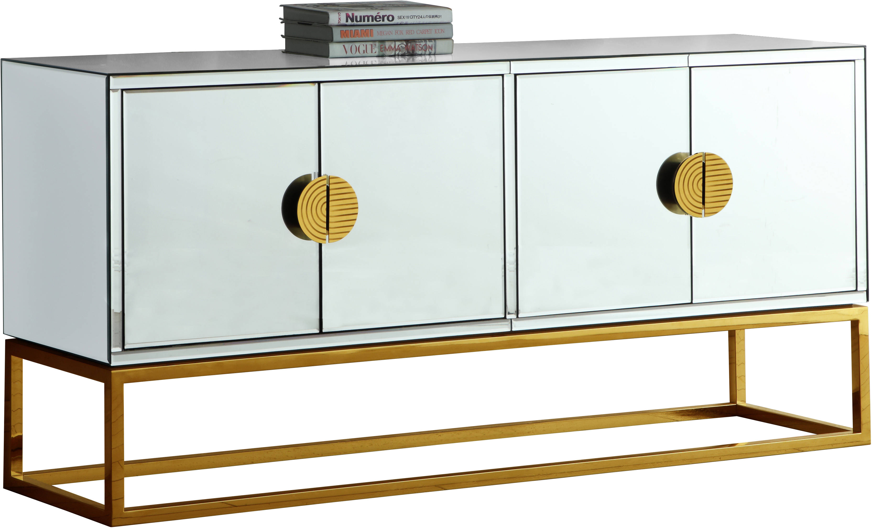 Meridian Furniture Marbella Gold Sideboard Buffet The Classy Home