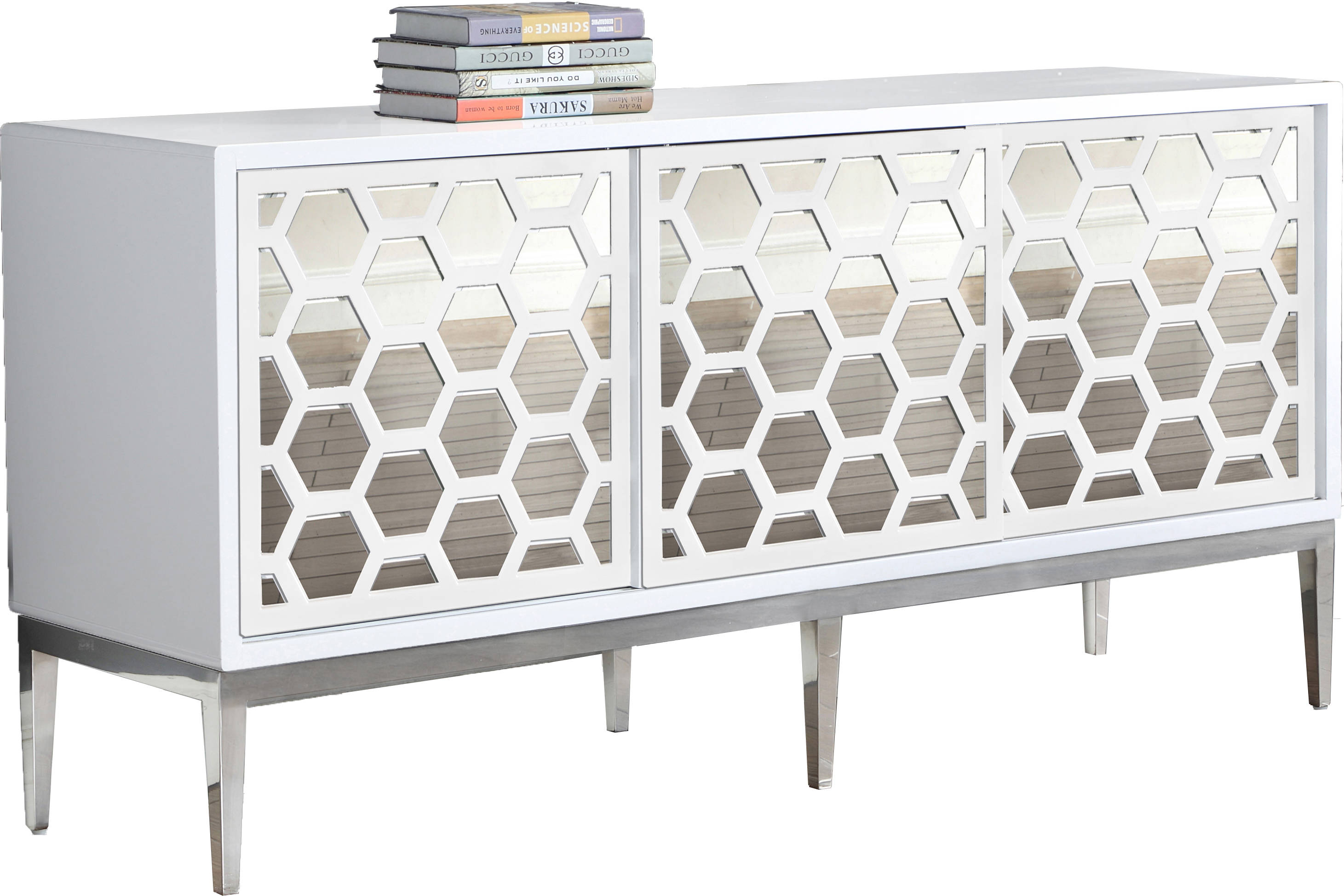 Meridian Furniture Zoey White Sideboard Buffet The Classy Home