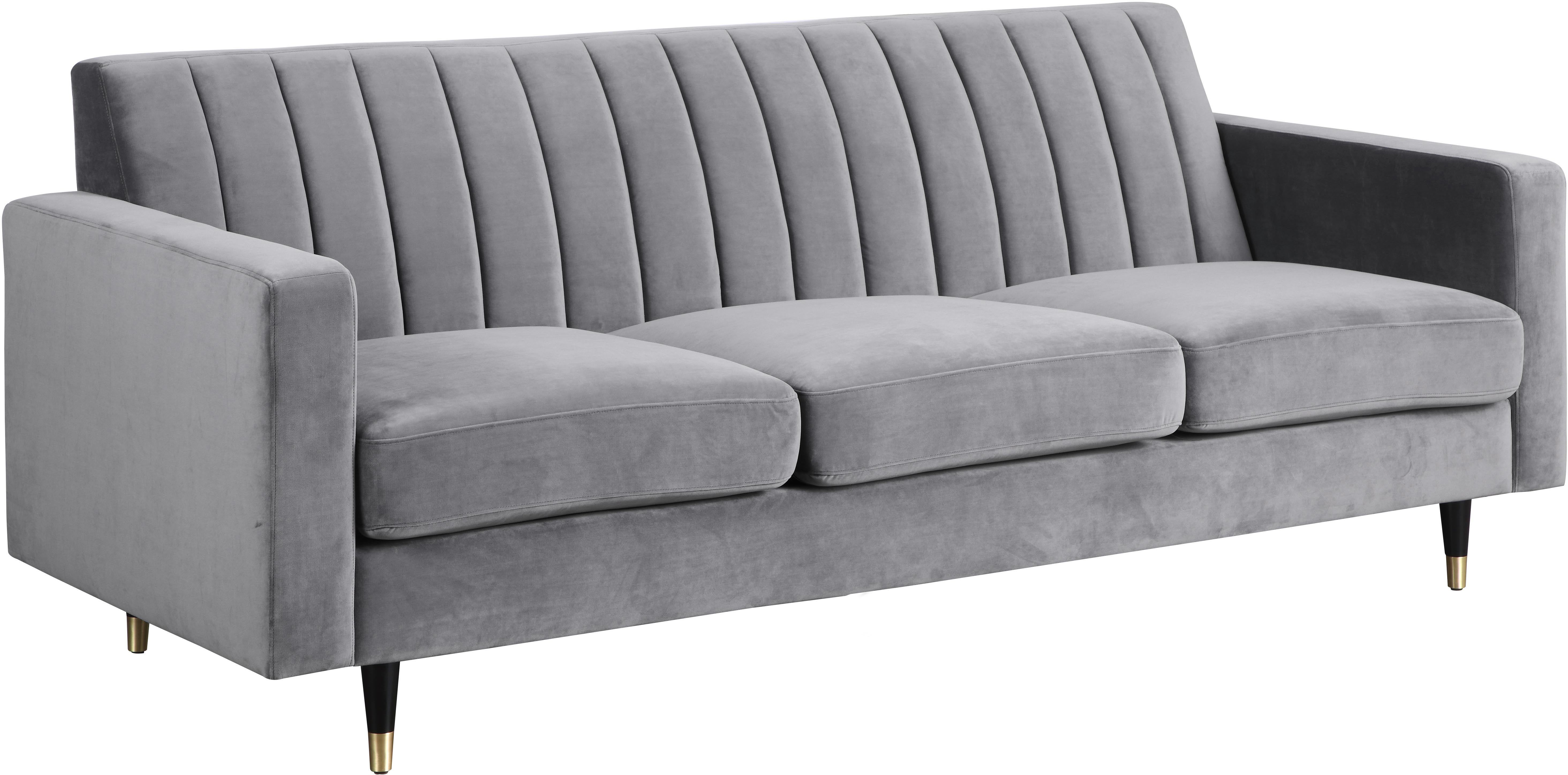 Phenomenal Meridian Furniture Lola Grey Velvet Sofa Caraccident5 Cool Chair Designs And Ideas Caraccident5Info