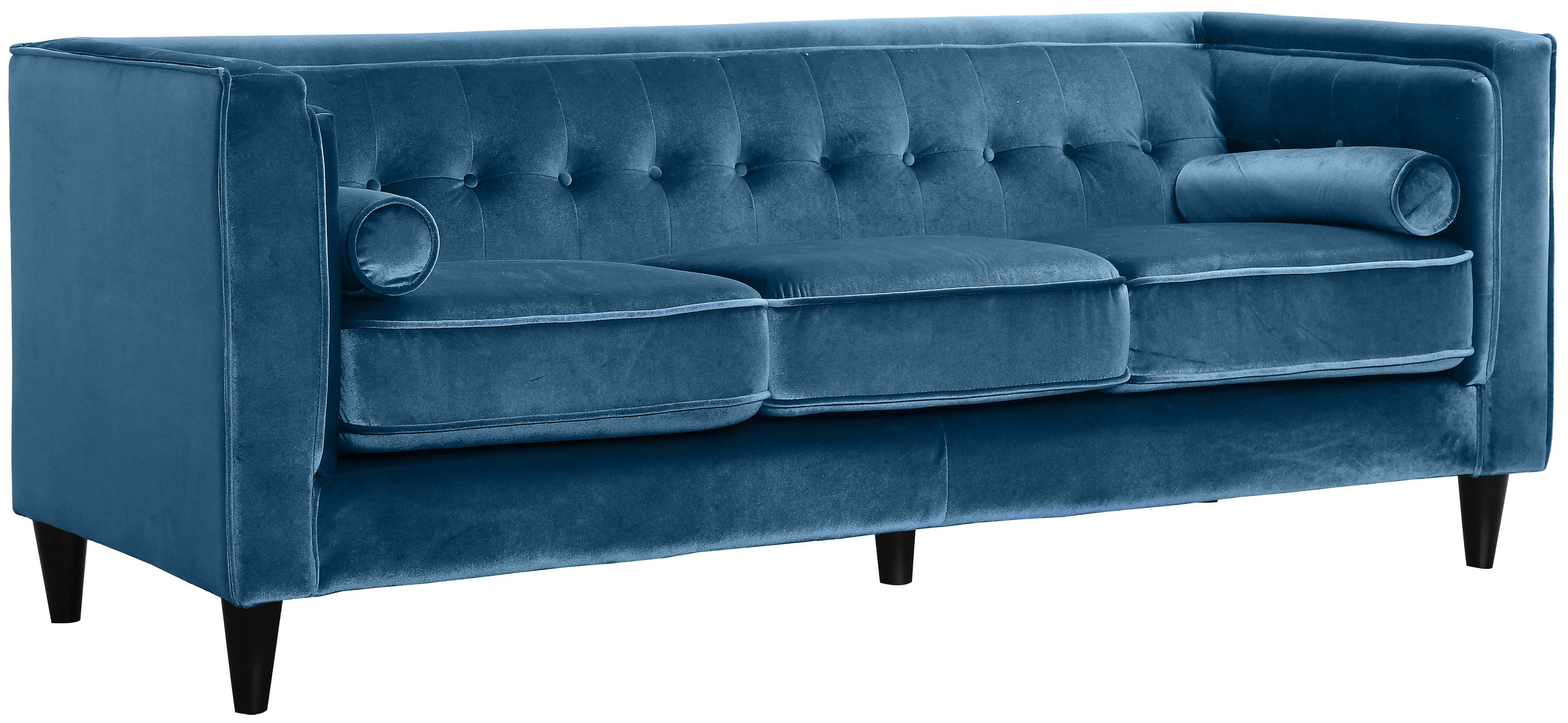 Meridian Furniture Taylor Light Blue Velvet Sofa The Classy Home