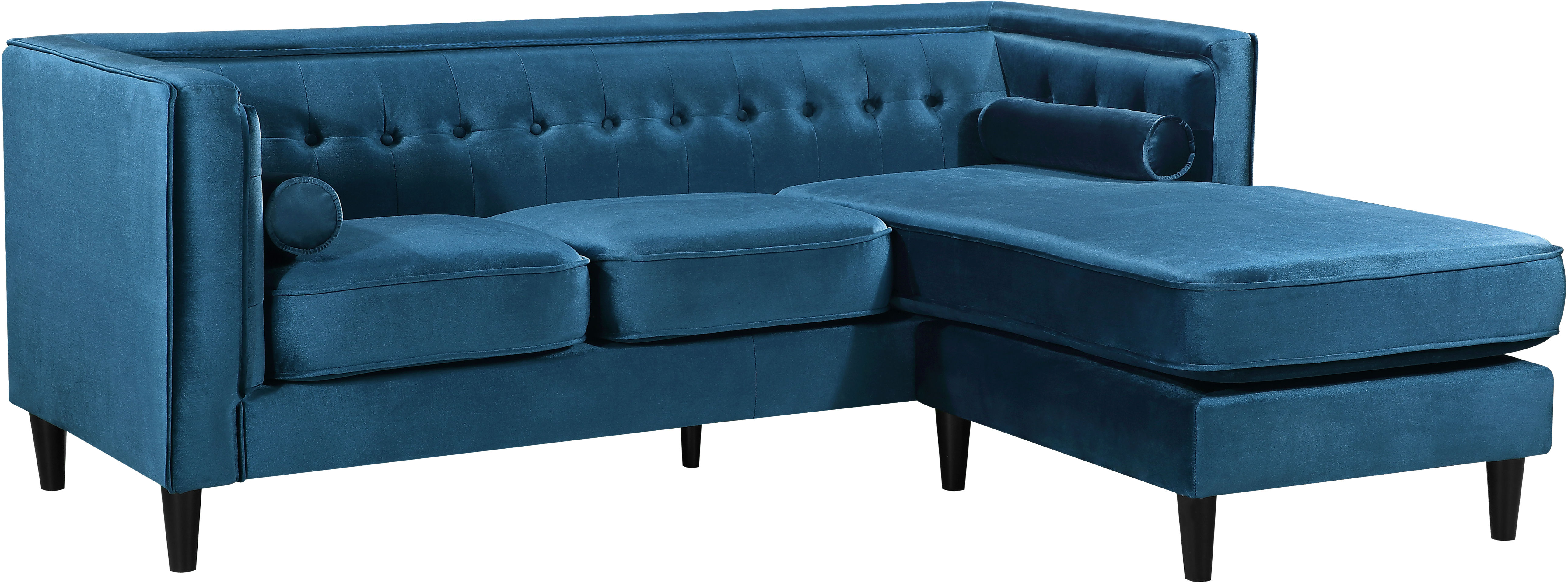 Meridian Furniture Taylor Light Blue Velvet 2pc Reversible