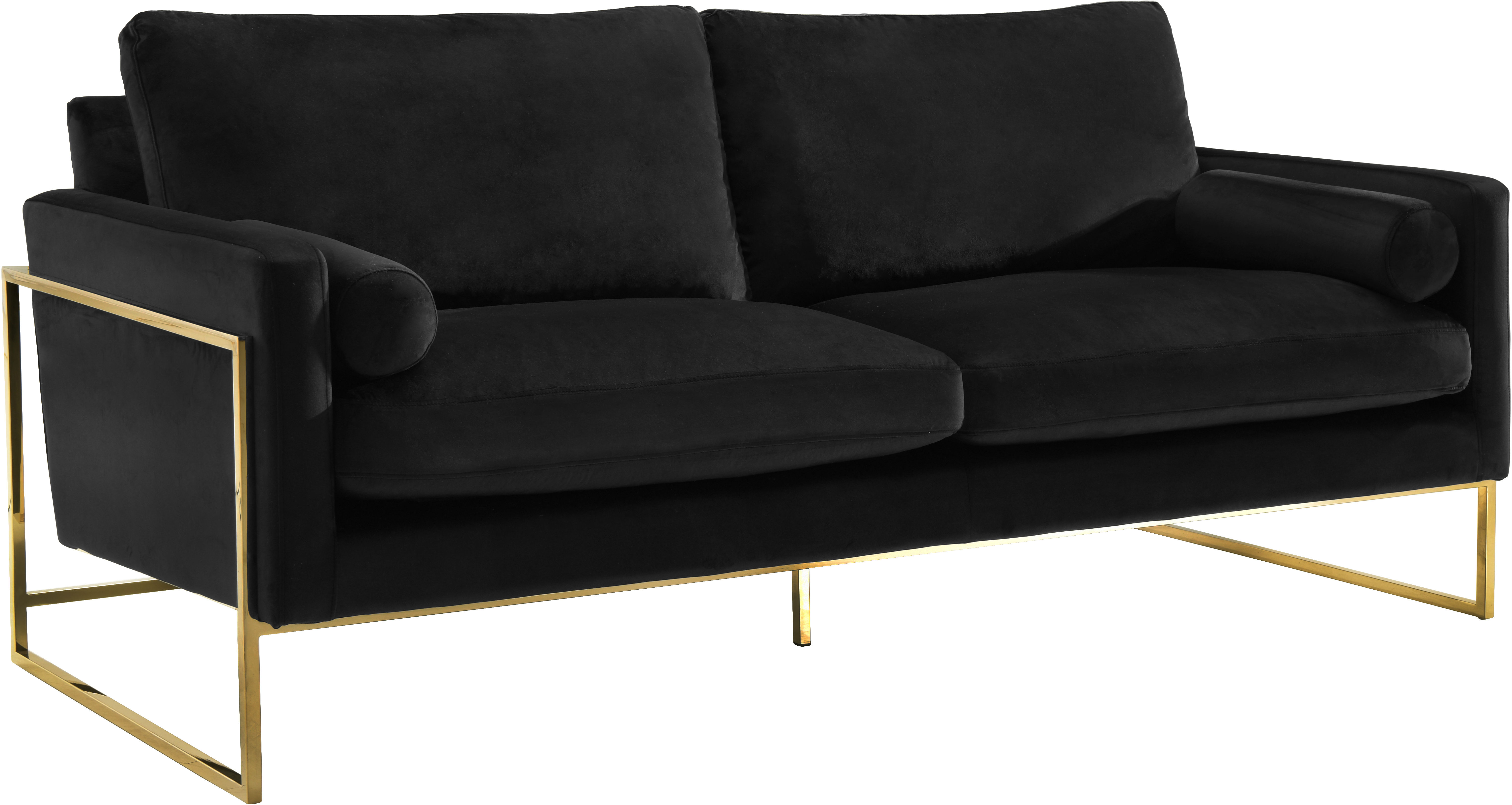 Meridian Furniture Mila Black Velvet Sofa | The Classy Home