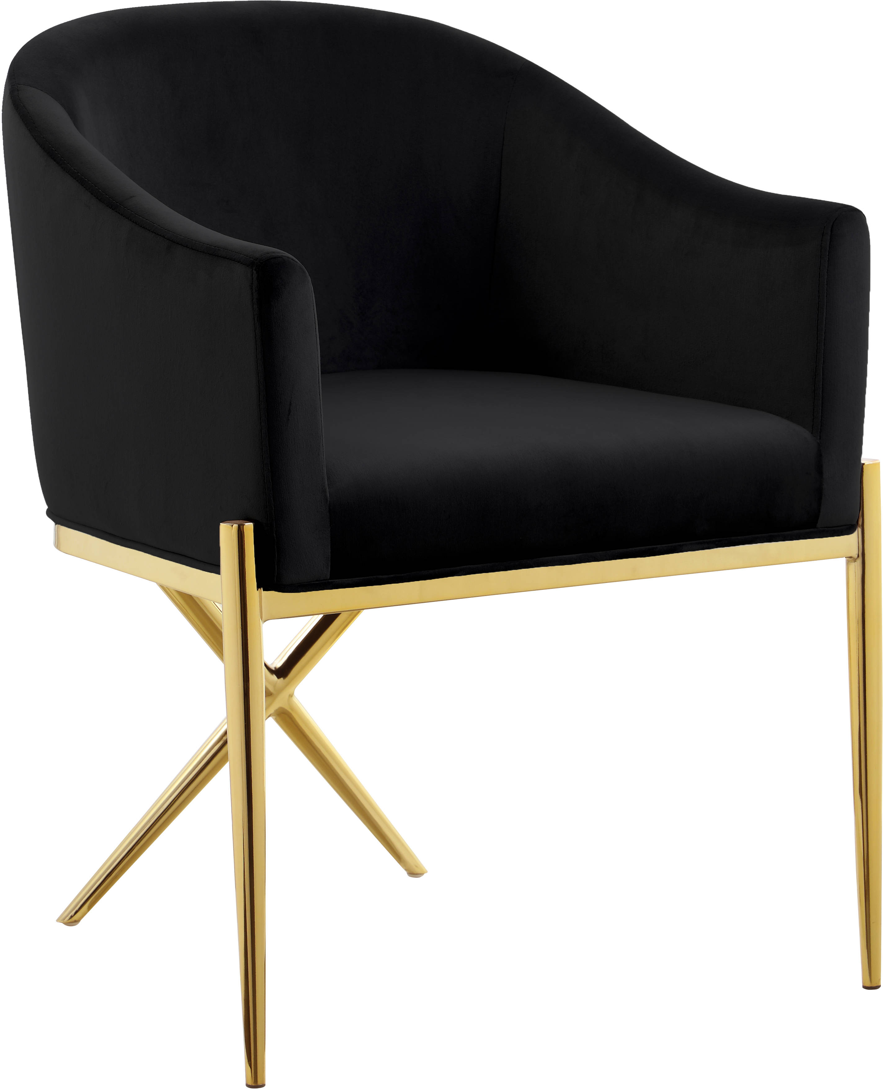 Meridian Furniture Xavier Black Gold Dining Chair