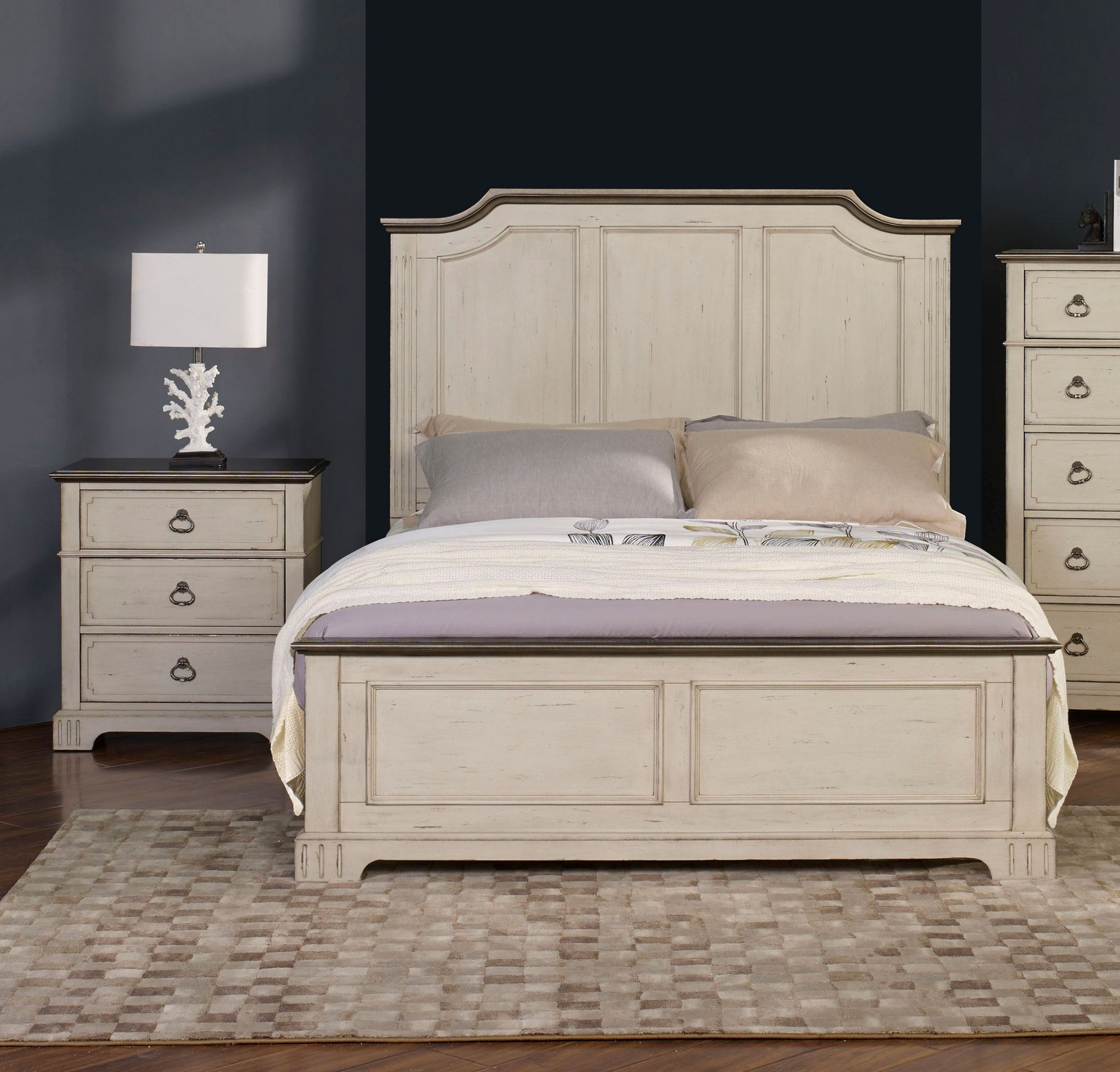New Classic Furniture Avalon Cove Alabaster Brown 2pc Bedroom Set with  Queen Bed