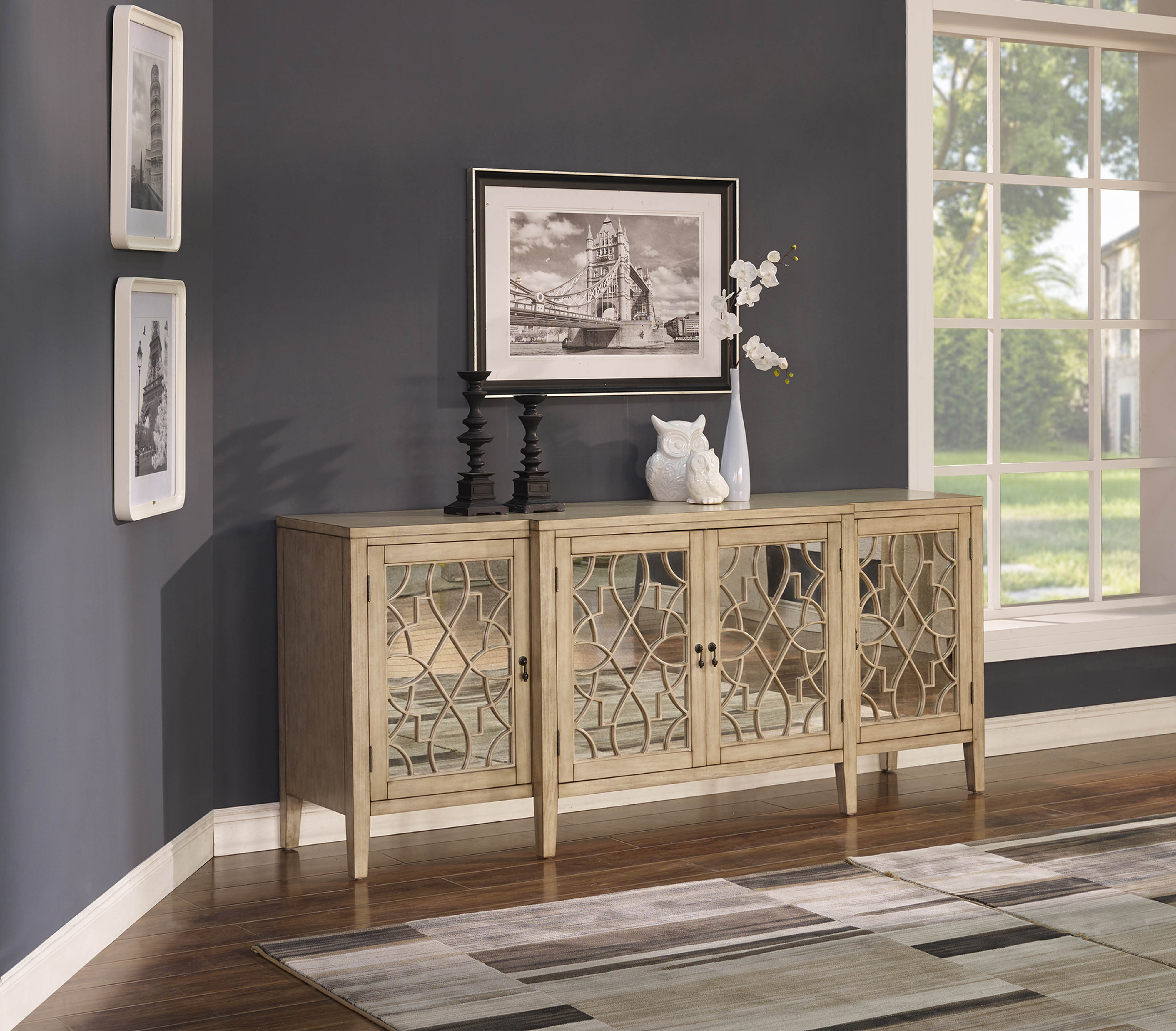 New Classic Furniture Vivienne Bright 4 Doors Credenza The Classy Home