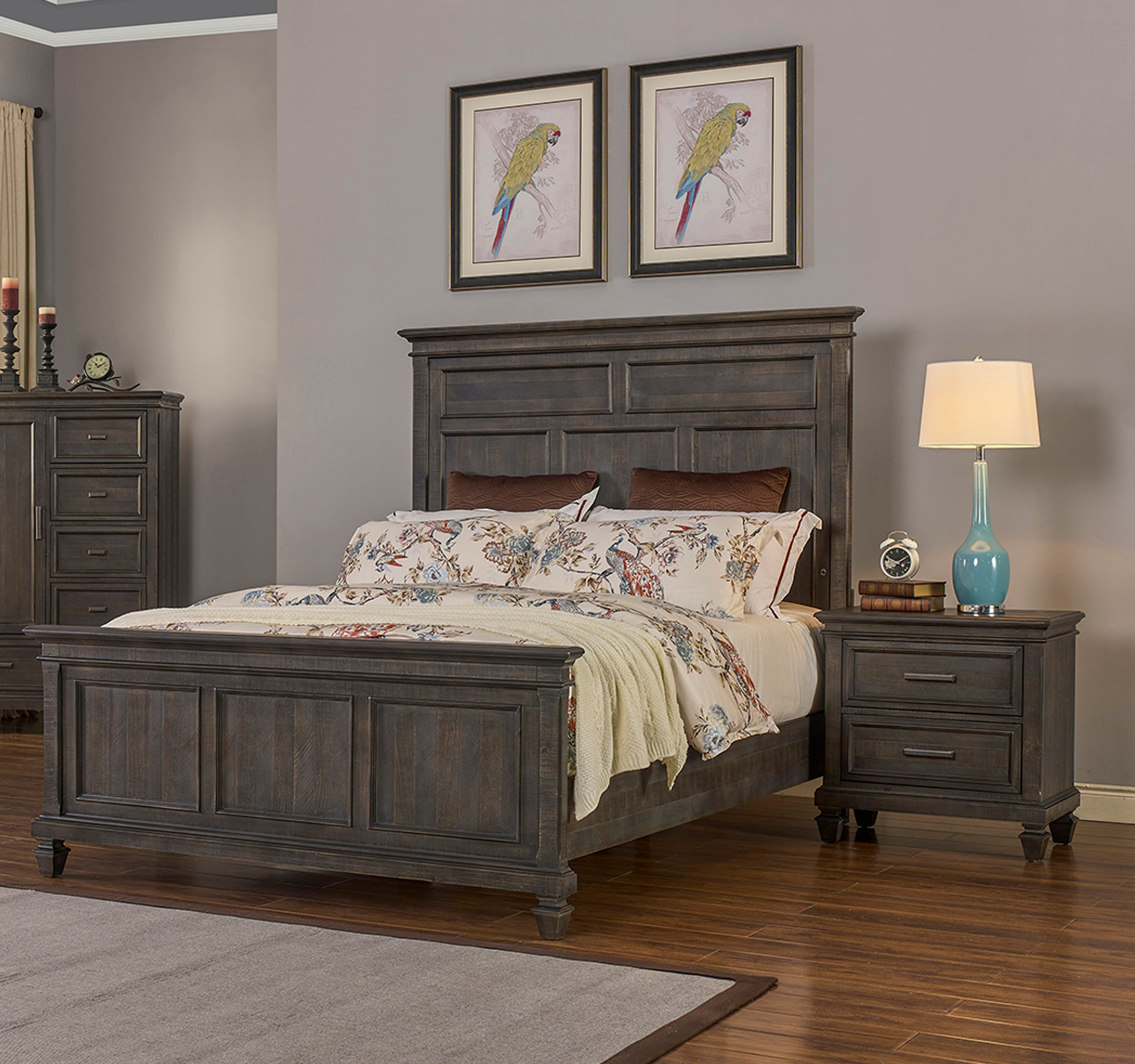 New Classic Furniture Cadiz Ash 2pc Bedroom Set with King Bed