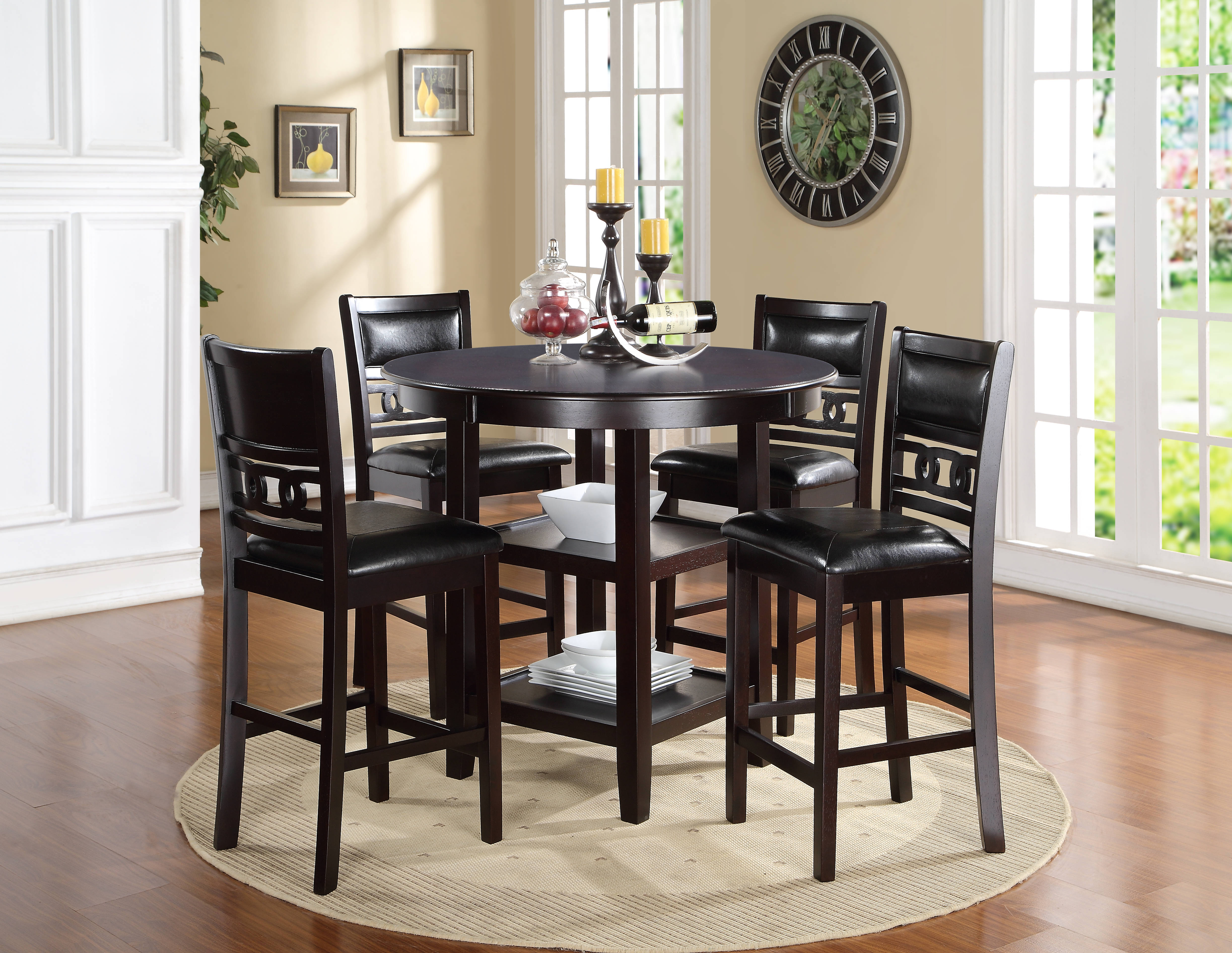 New Classic Furniture Gia 5pc Counter Dining Set The